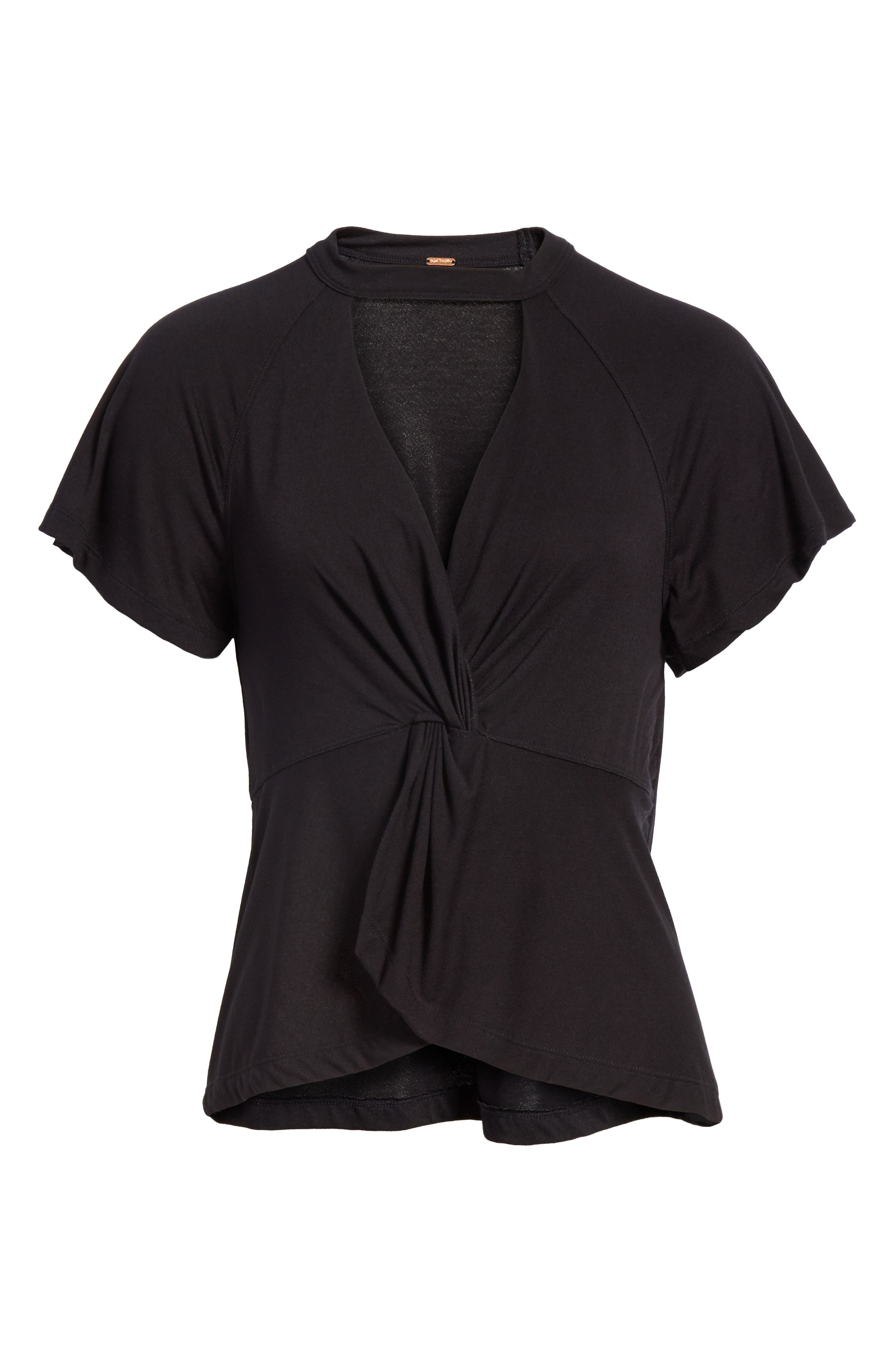 FREE PEOPLE,                             Just a Twist Top,                             Alternate thumbnail 6, color,                             001