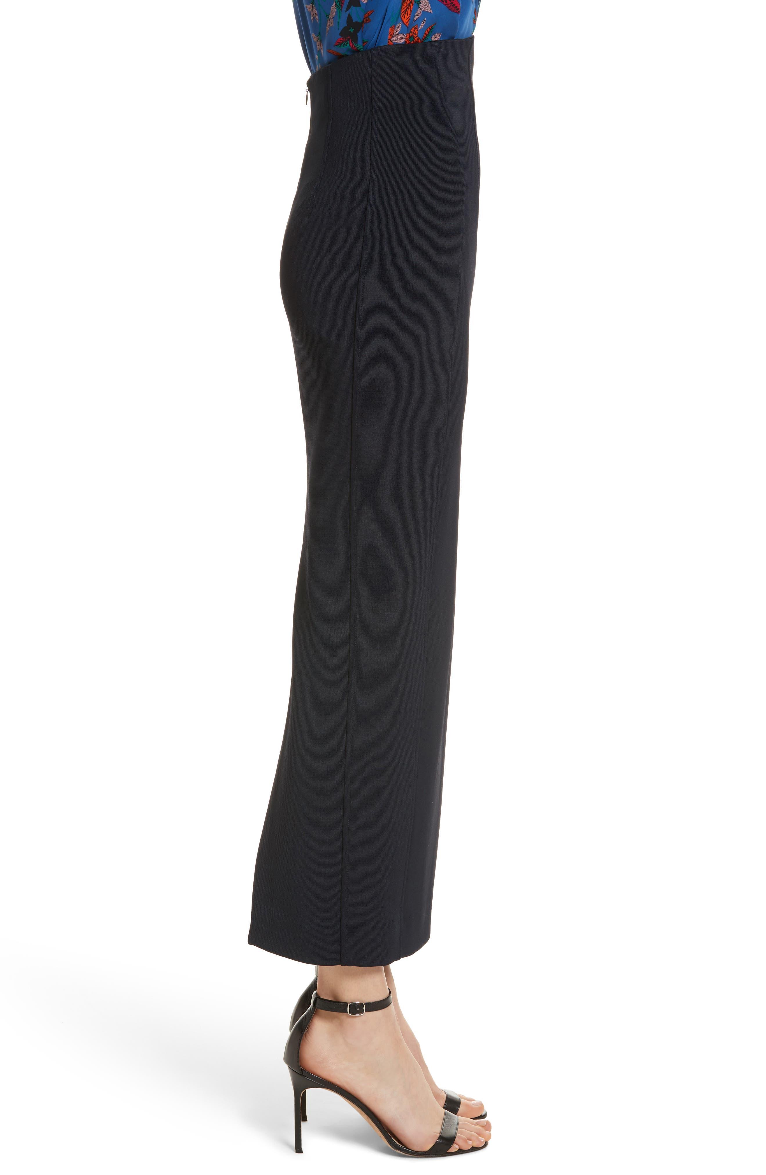 Diane von Furstenberg Fitted Midi Skirt,                             Alternate thumbnail 3, color,