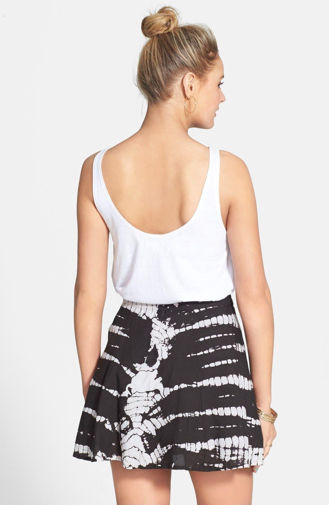 'Sk8r Girl' Print Skater Skirt,                             Alternate thumbnail 2, color,                             001