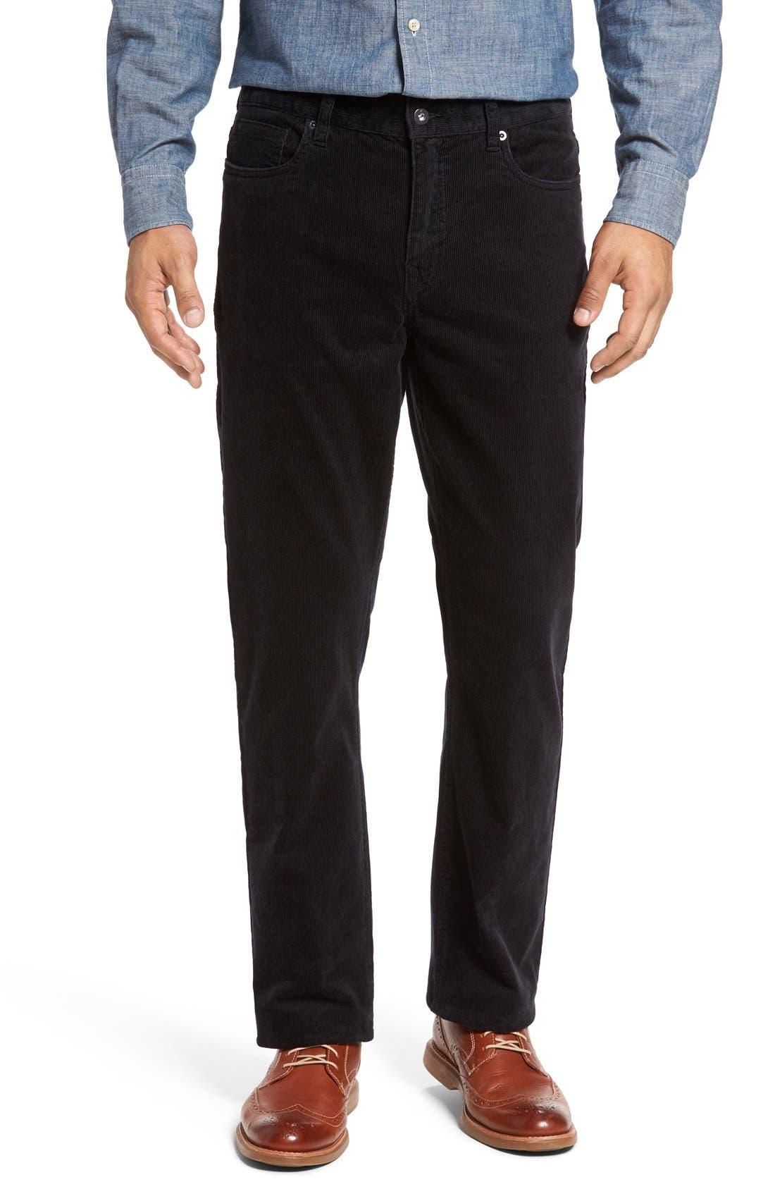 Greenwood Stretch Corduroy Pants,                             Main thumbnail 1, color,                             001
