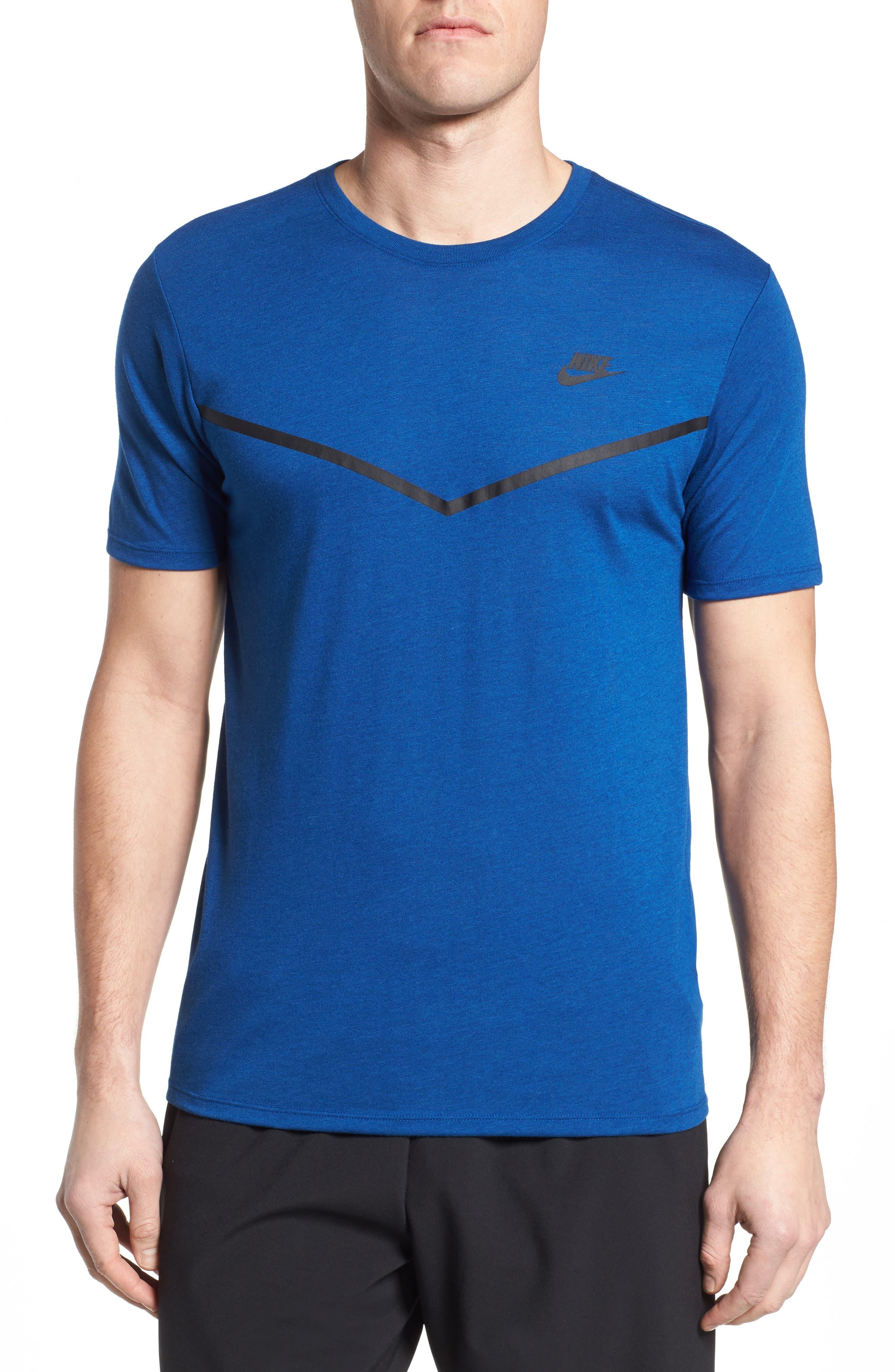 Nike Nsw Tb Tech T-Shirt, Blue