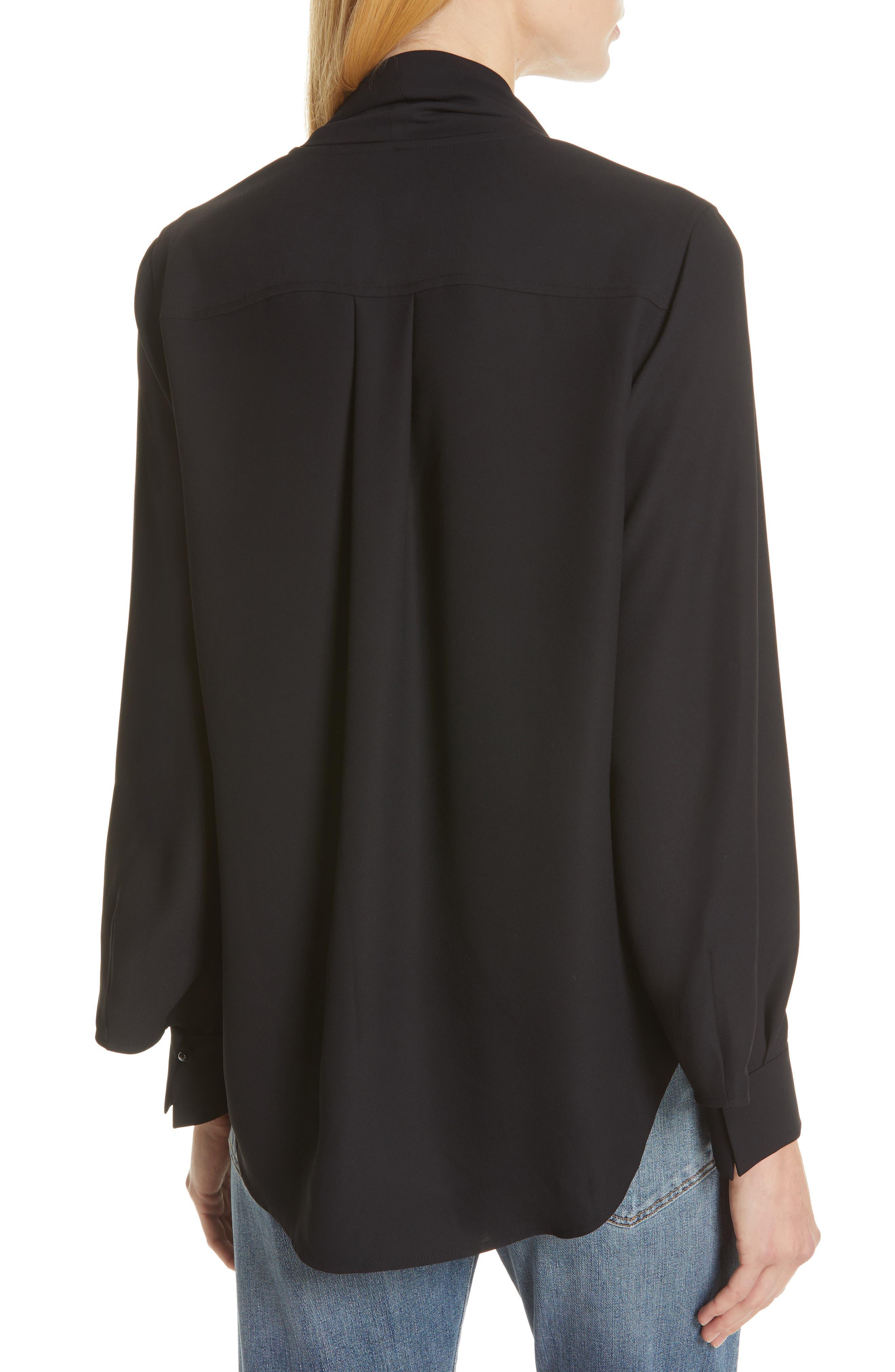 Haty Button Front Shirt,                             Alternate thumbnail 3, color,                             TRUE BLACK