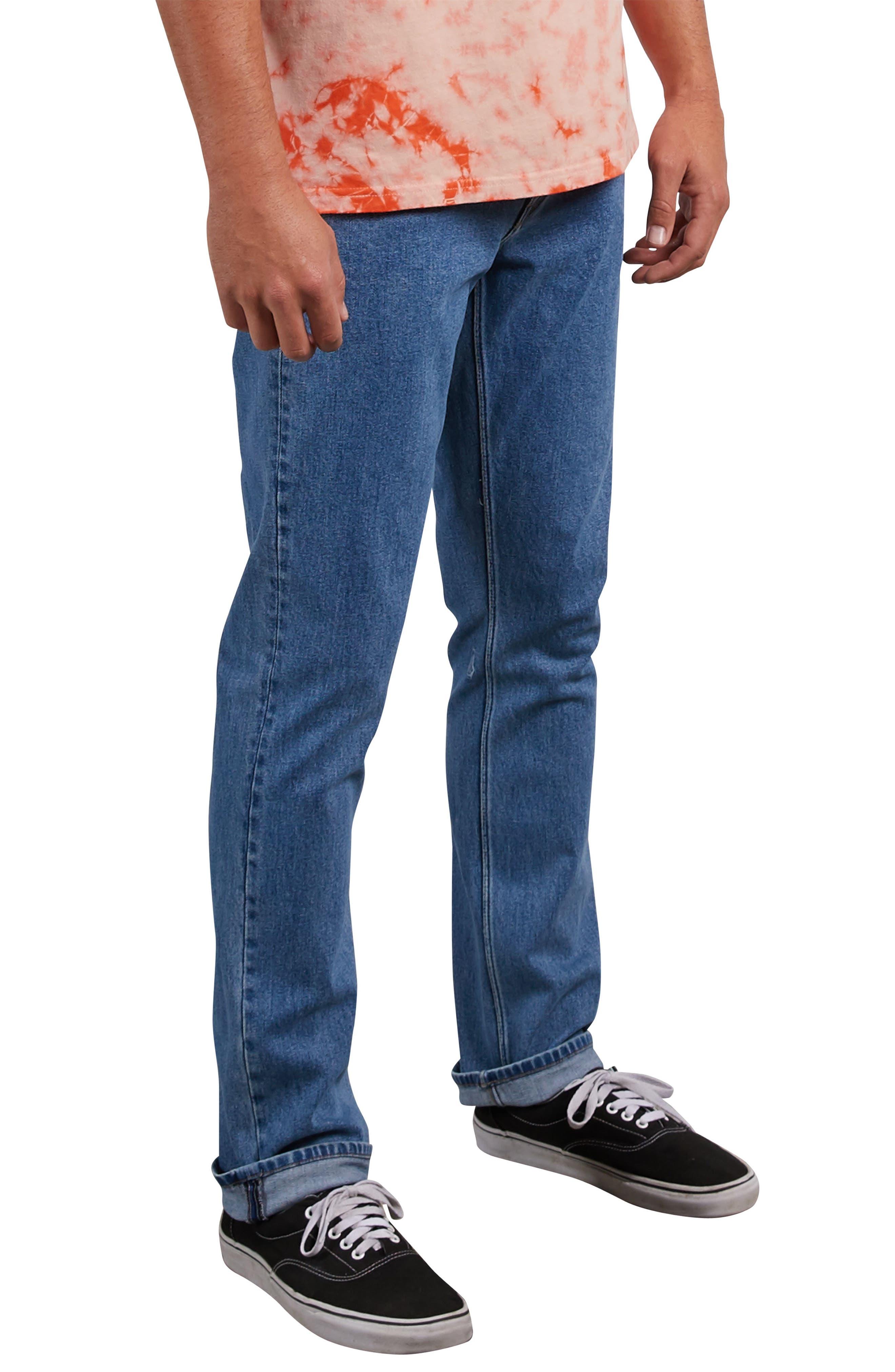 Vorta Slim Fit Jeans,                             Alternate thumbnail 3, color,                             STONE BLUE