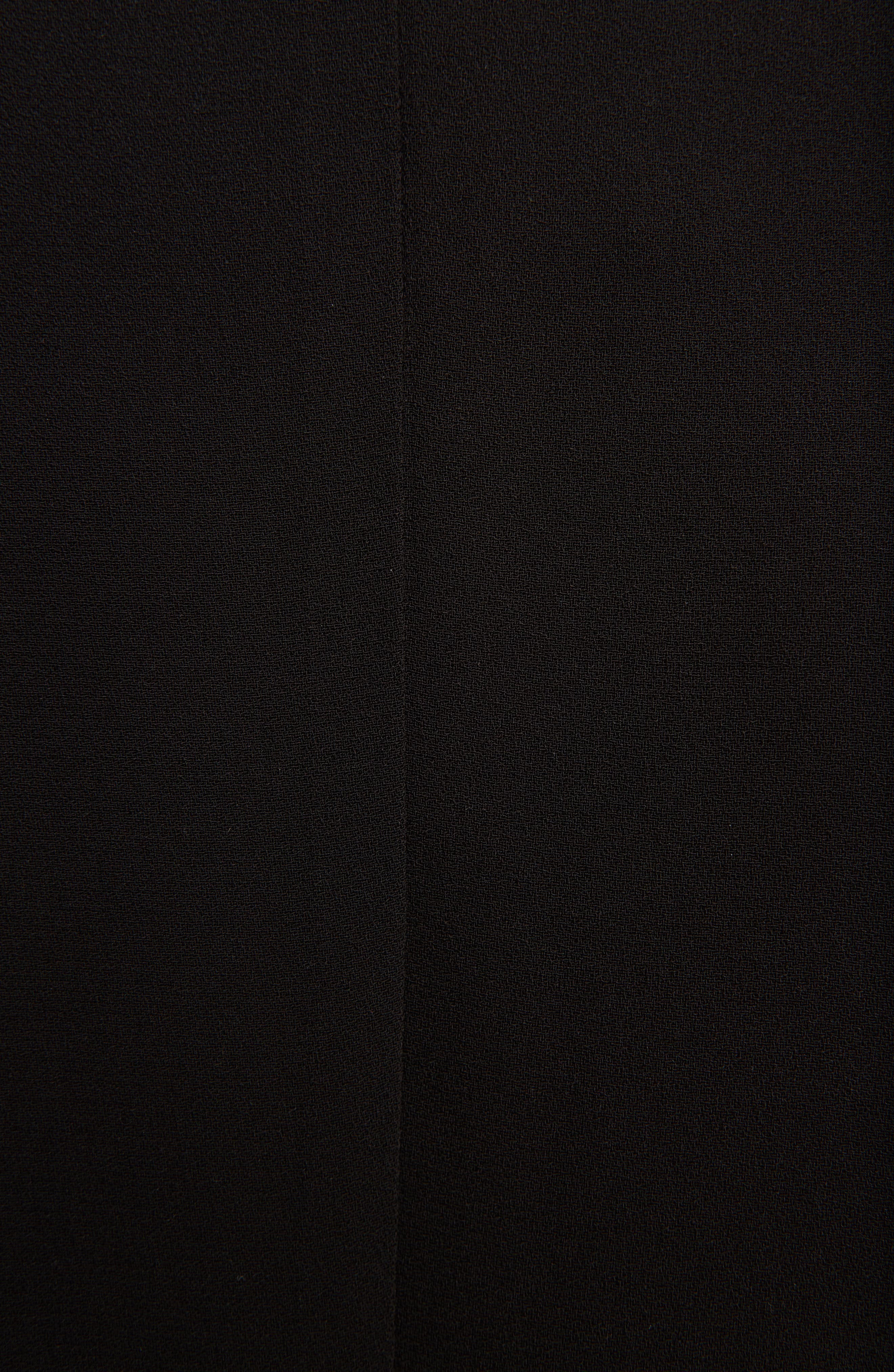 Georgette Faux Wrap Dress,                             Alternate thumbnail 5, color,                             001