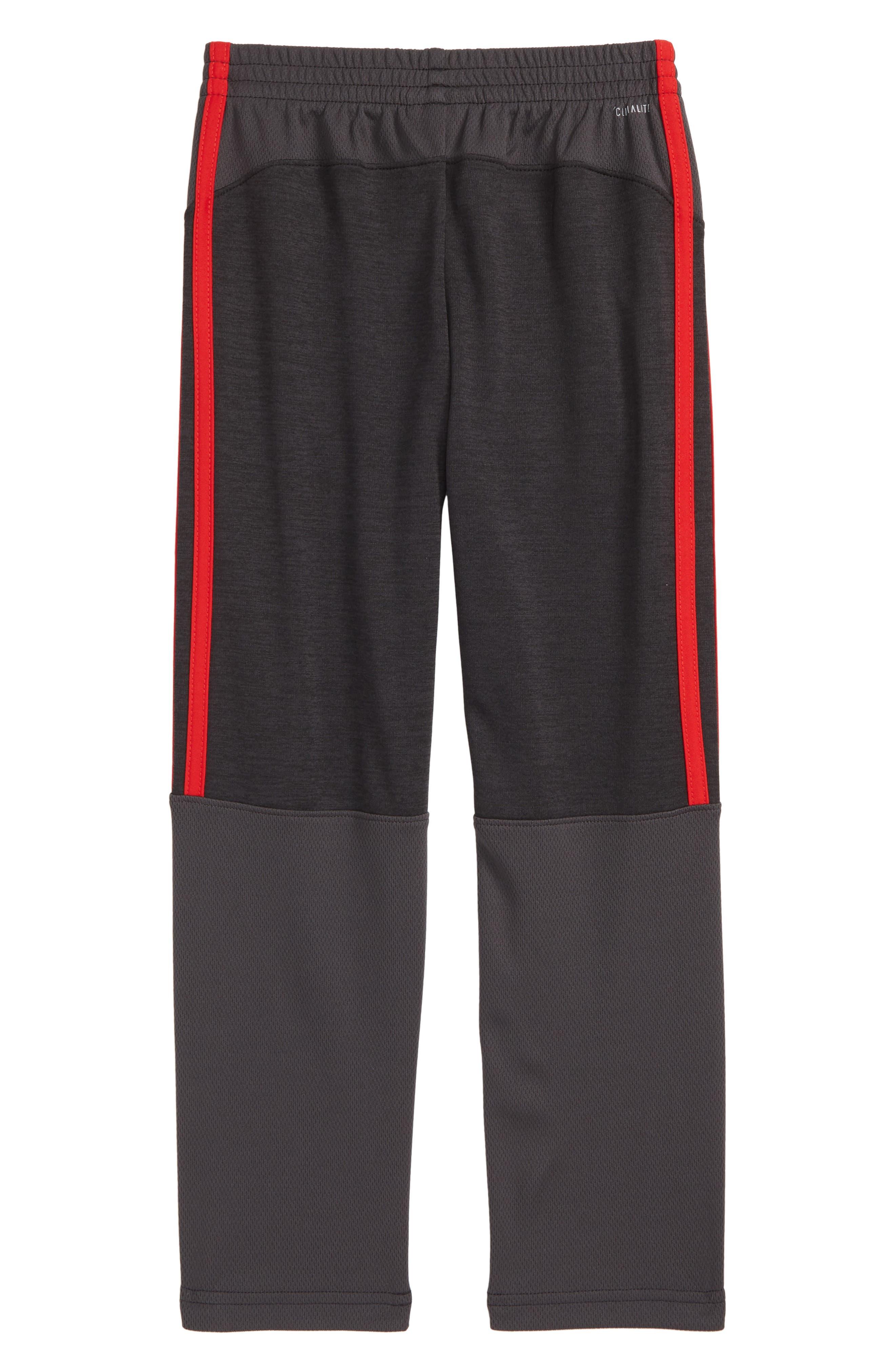 Mélange Track Pants,                             Alternate thumbnail 2, color,                             BLACK/ RED