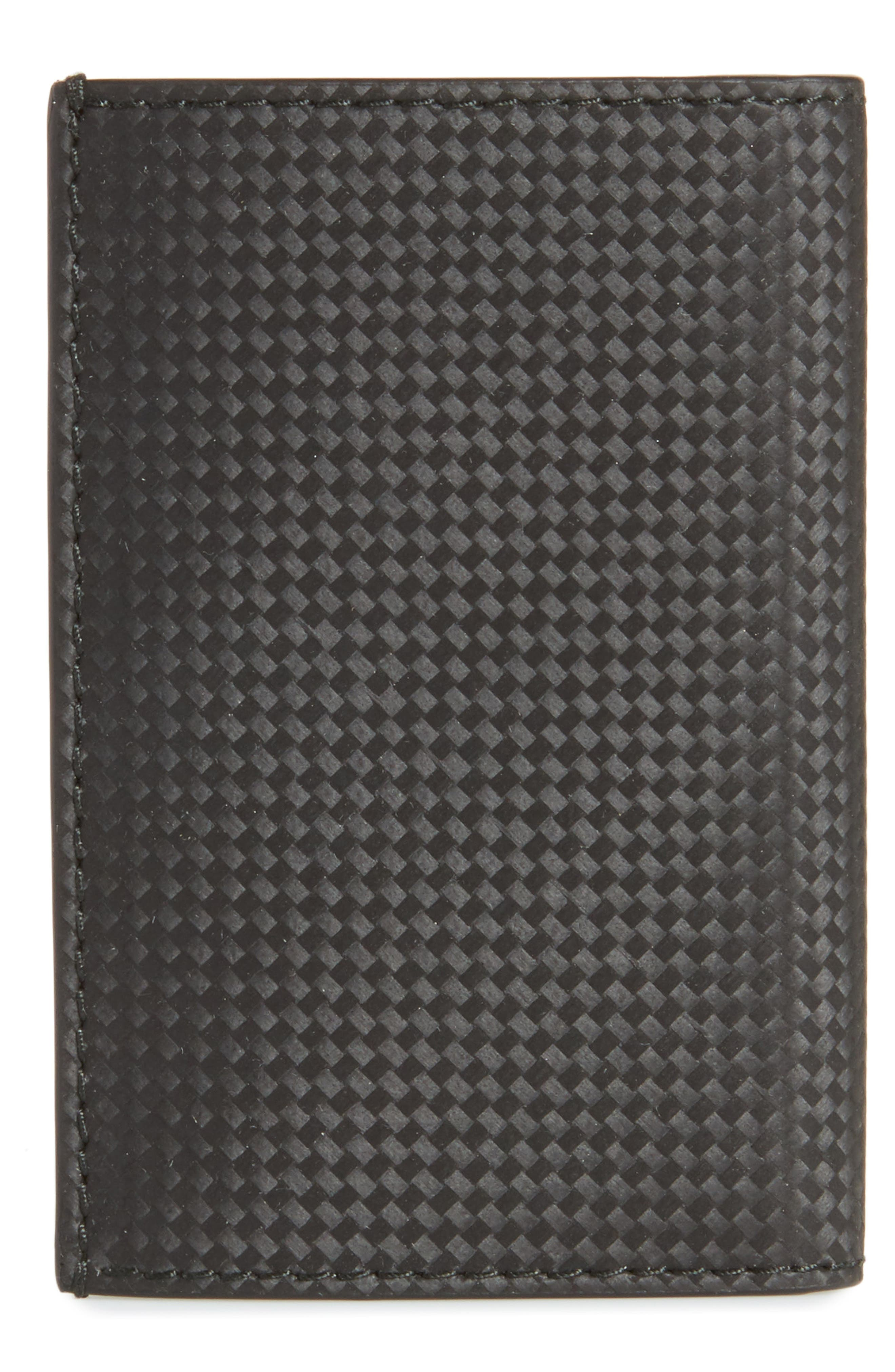 Extreme Leather Business Card Case,                             Alternate thumbnail 3, color,                             BLACK