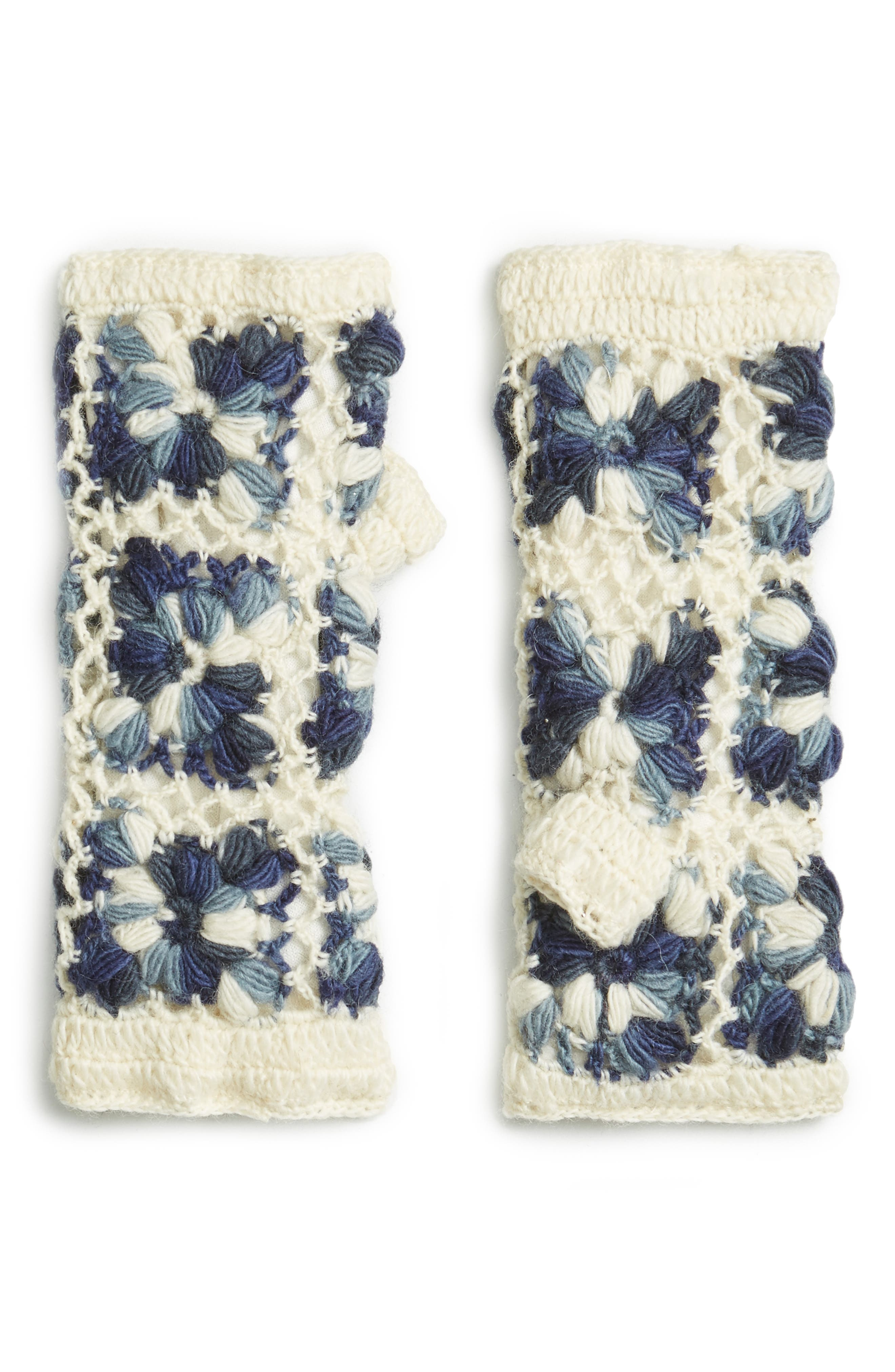 Flower Crochet Hand Warmers,                             Main thumbnail 8, color,