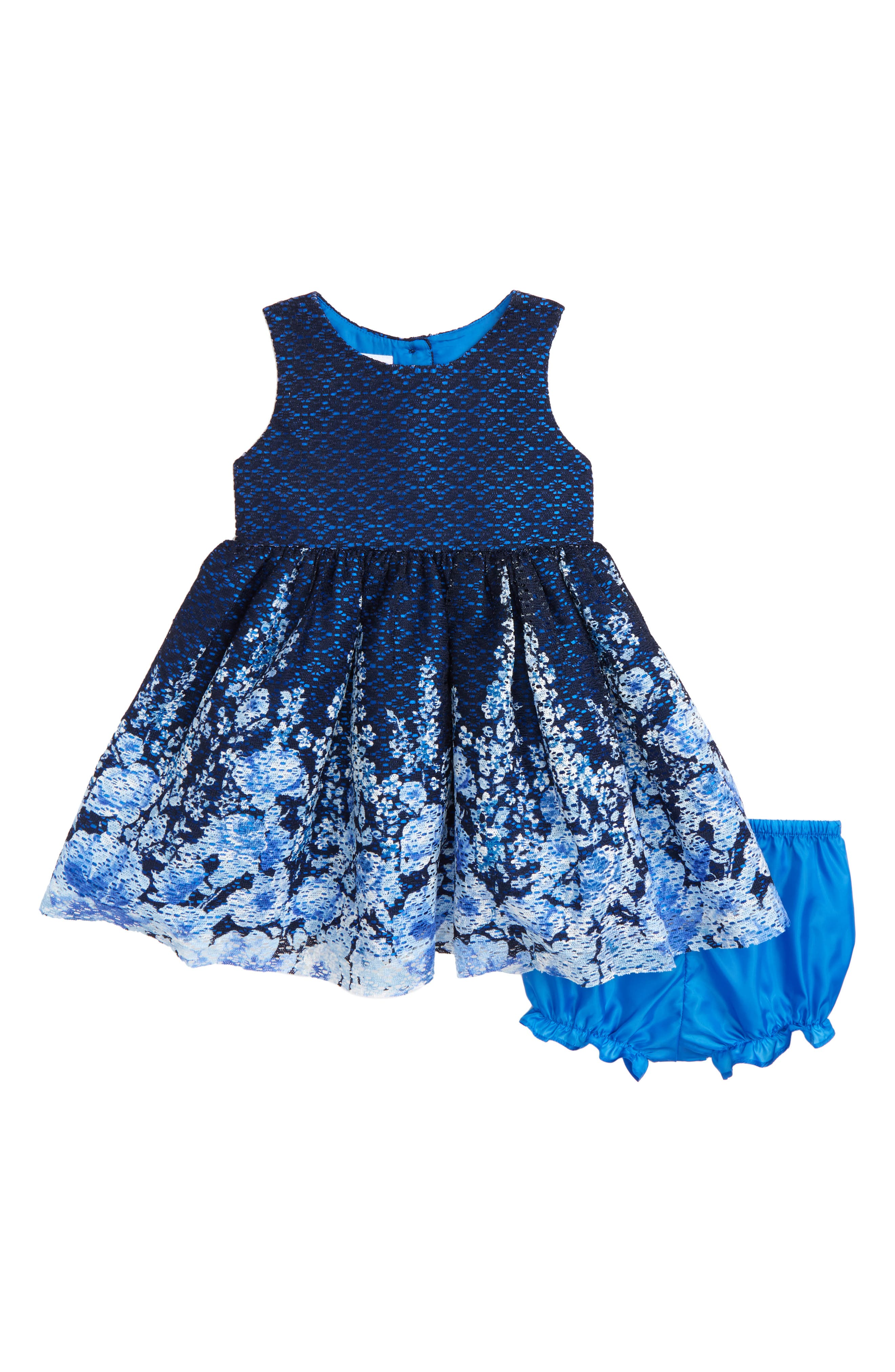 Floral Lace Dress,                         Main,                         color, 410