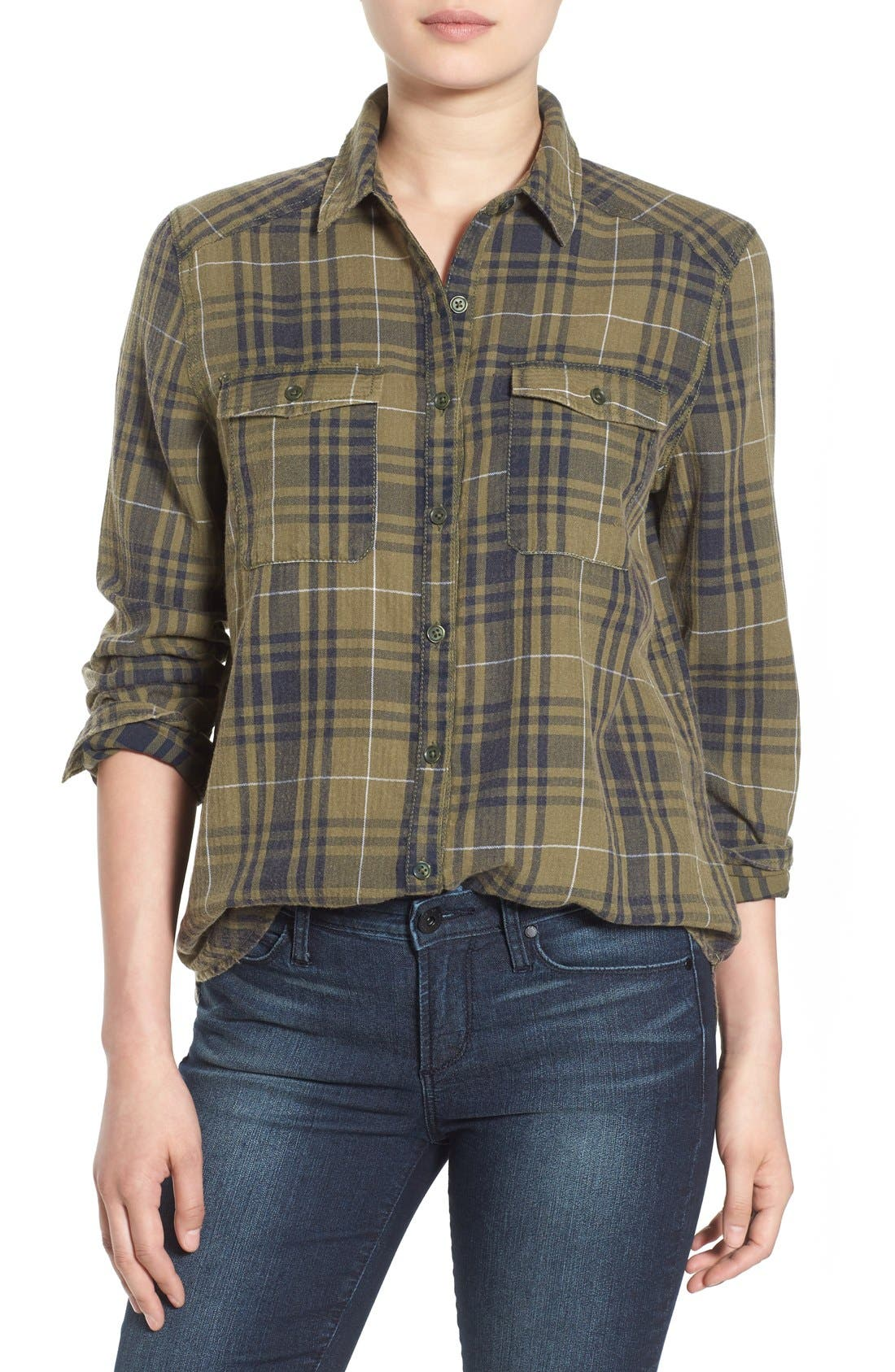 BP.,                             Plaid Shirt,                             Main thumbnail 1, color,                             315