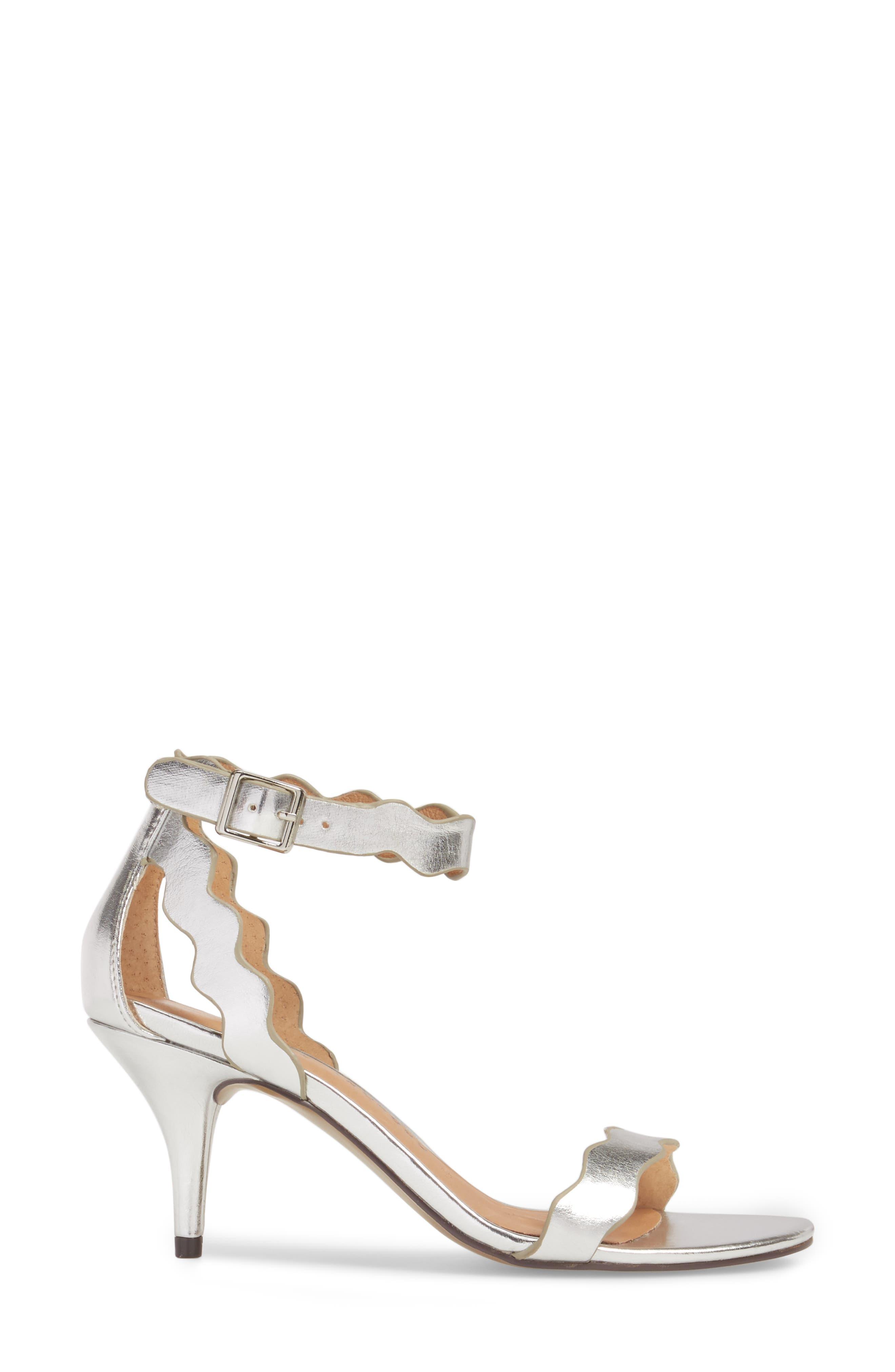 'Rubie' Scalloped Ankle Strap Sandal,                             Alternate thumbnail 3, color,                             040