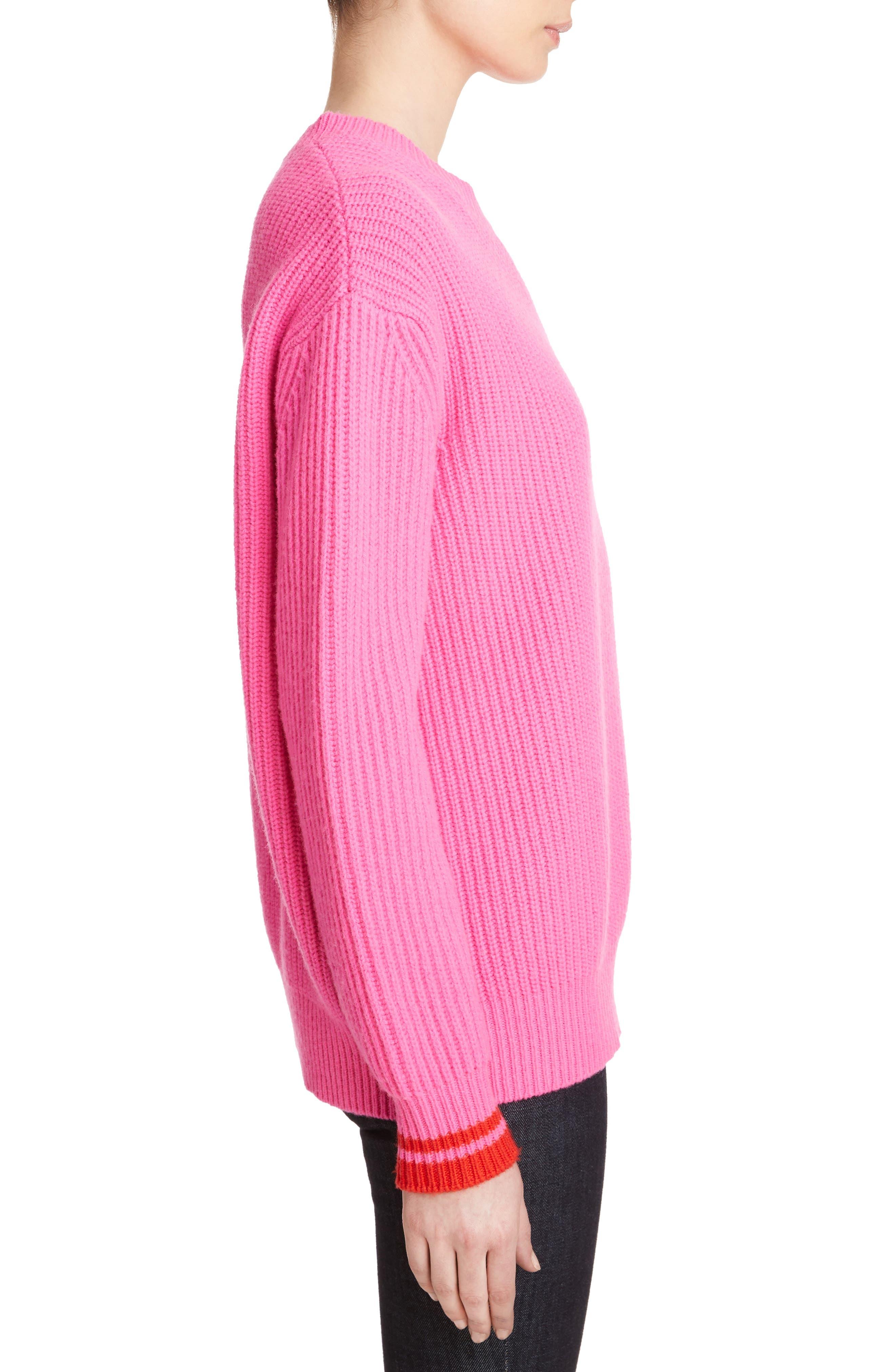 Lambswool Boyfriend Sweater,                             Alternate thumbnail 3, color,                             650
