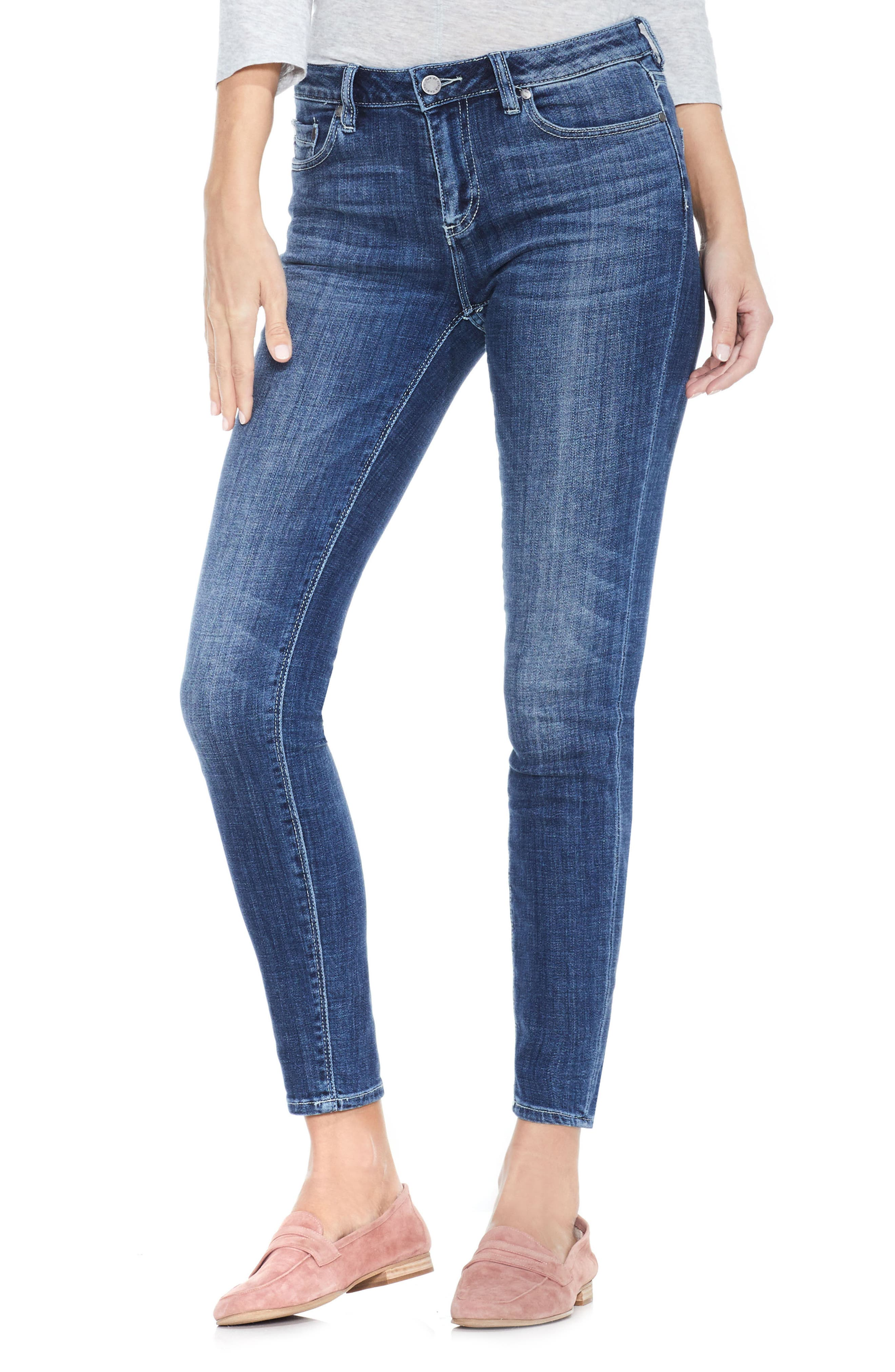 Stretch Skinny Jeans,                         Main,                         color, 400