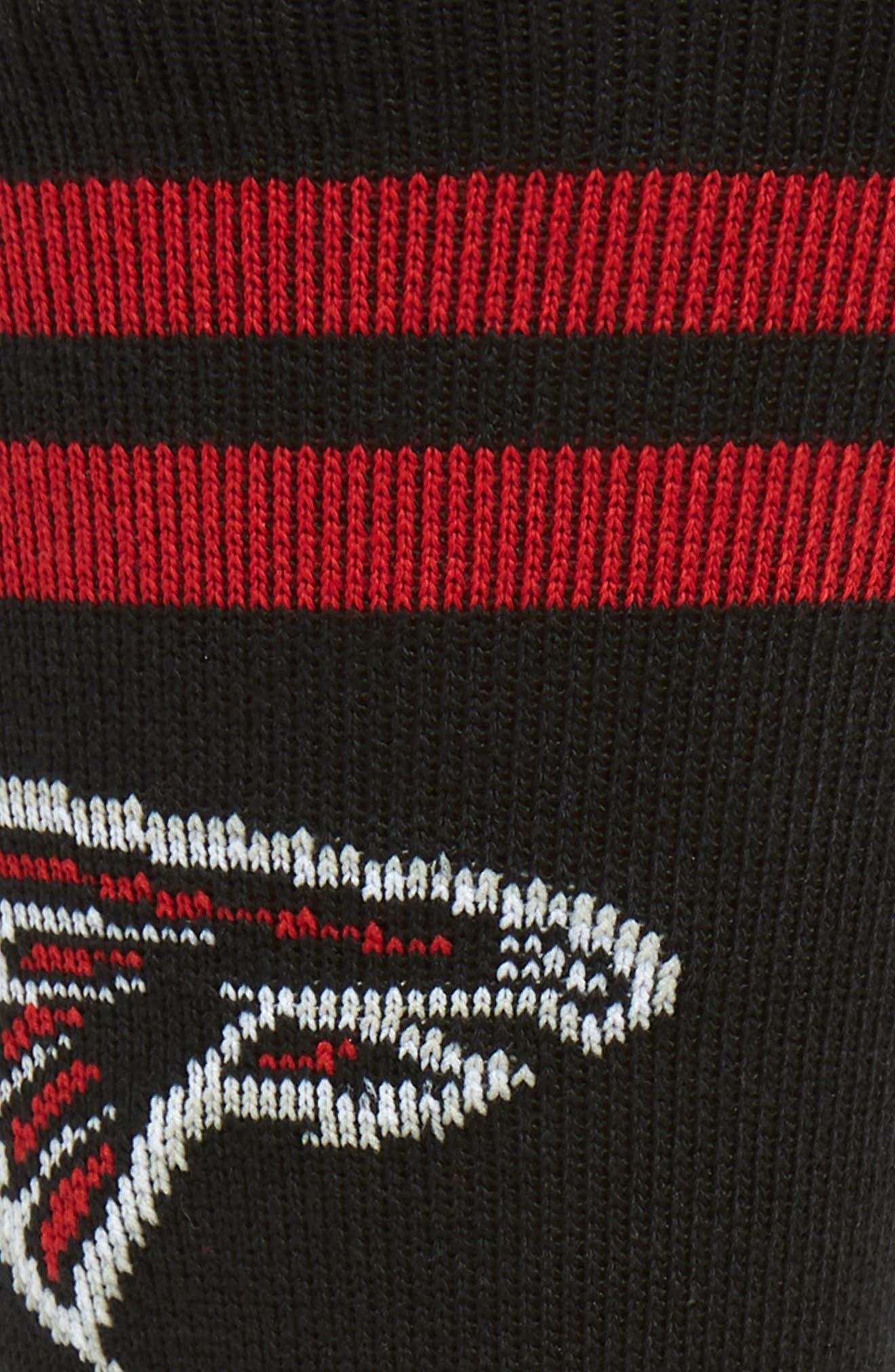 STANCE,                             Atlanta Falcons Socks,                             Alternate thumbnail 2, color,                             RED/ BLACK