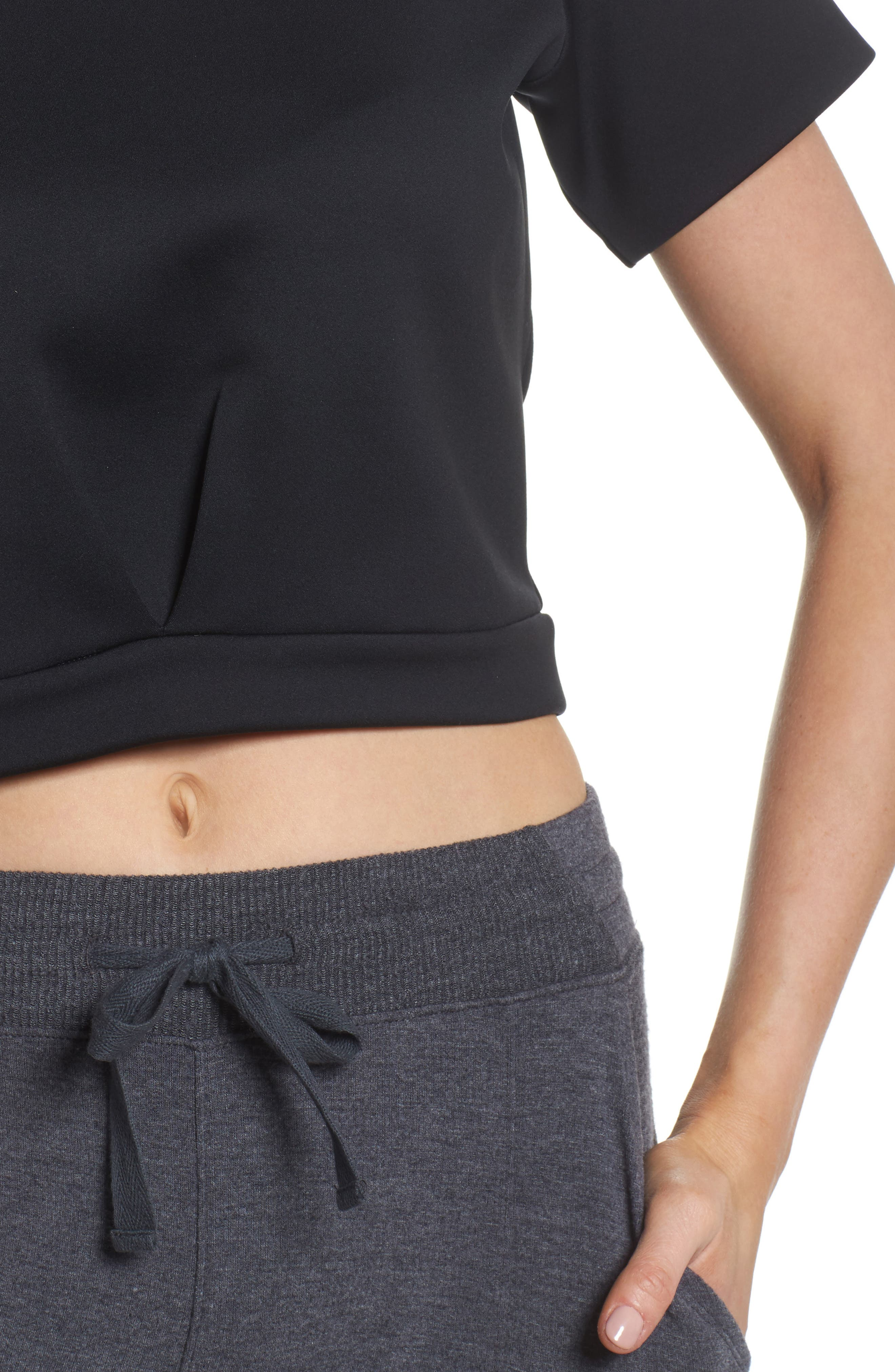 Any Day Crop Top,                             Alternate thumbnail 4, color,                             001