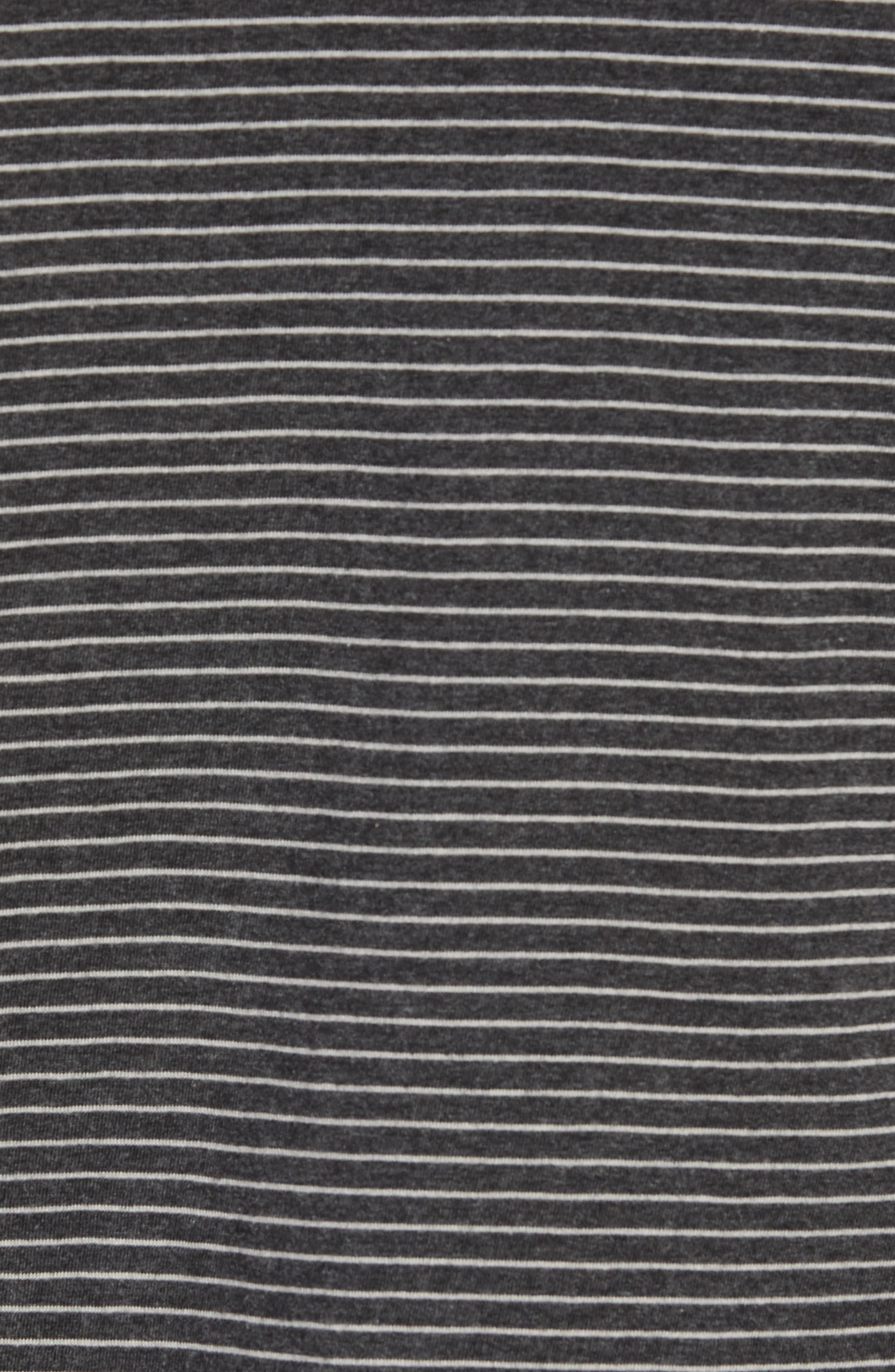 Tipped Feeder Stripe Polo,                             Alternate thumbnail 5, color,                             DARK CHARCOAL HEATHER