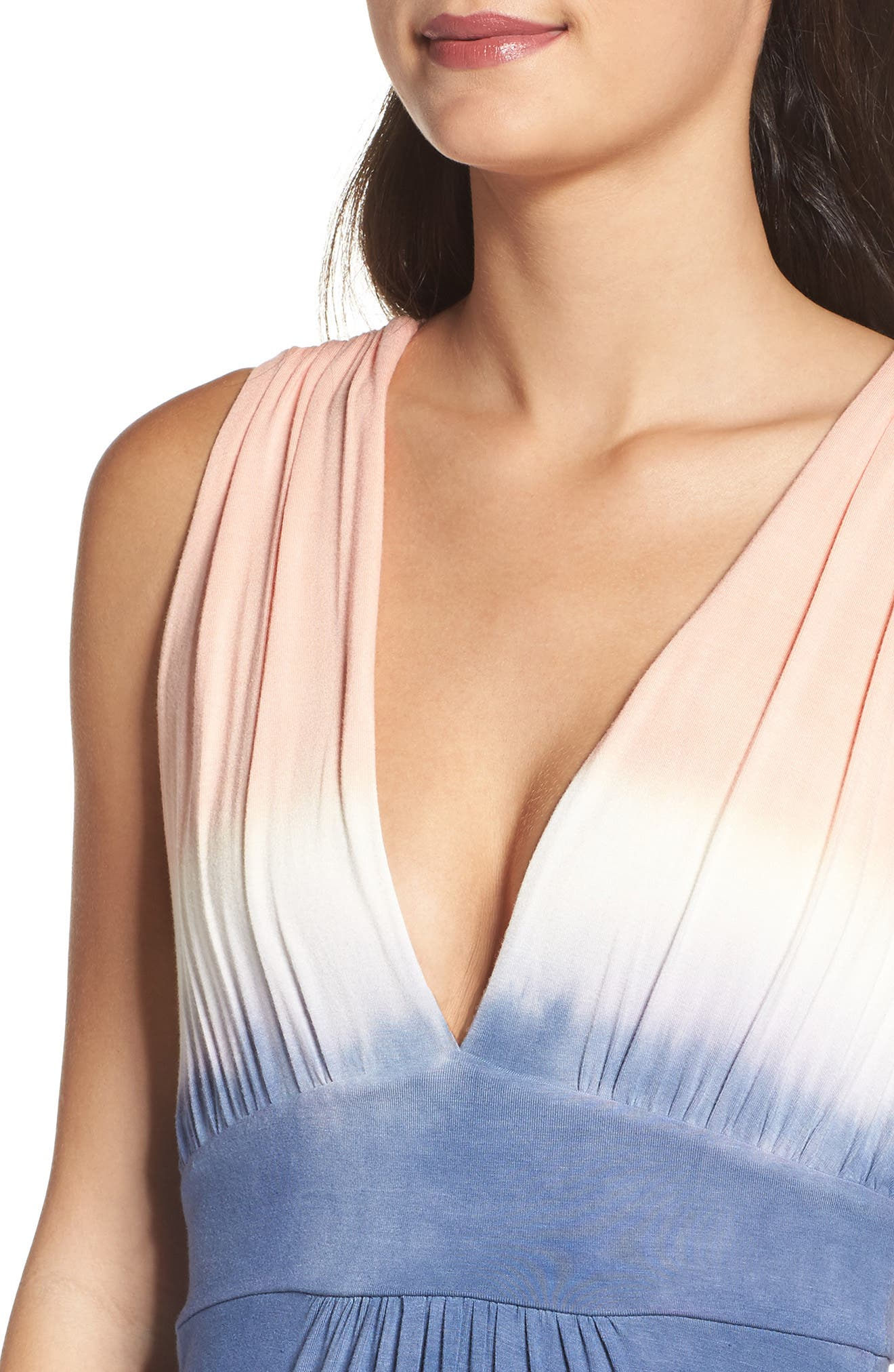 Tie Dye Sleeveless Maxi Dress,                             Alternate thumbnail 5, color,                             400