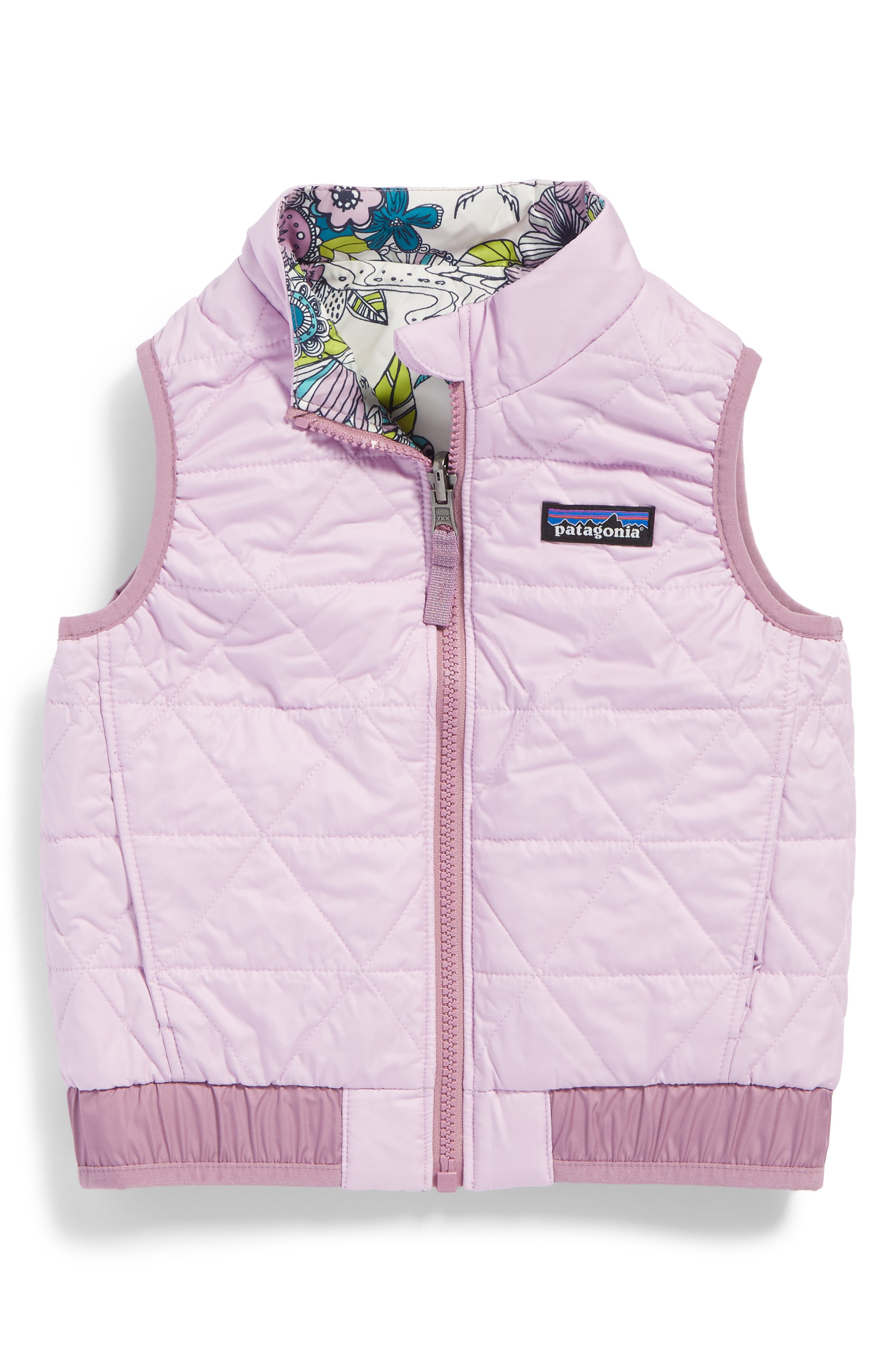 'Puff-Ball' Water Resistant Reversible Vest,                             Alternate thumbnail 6, color,