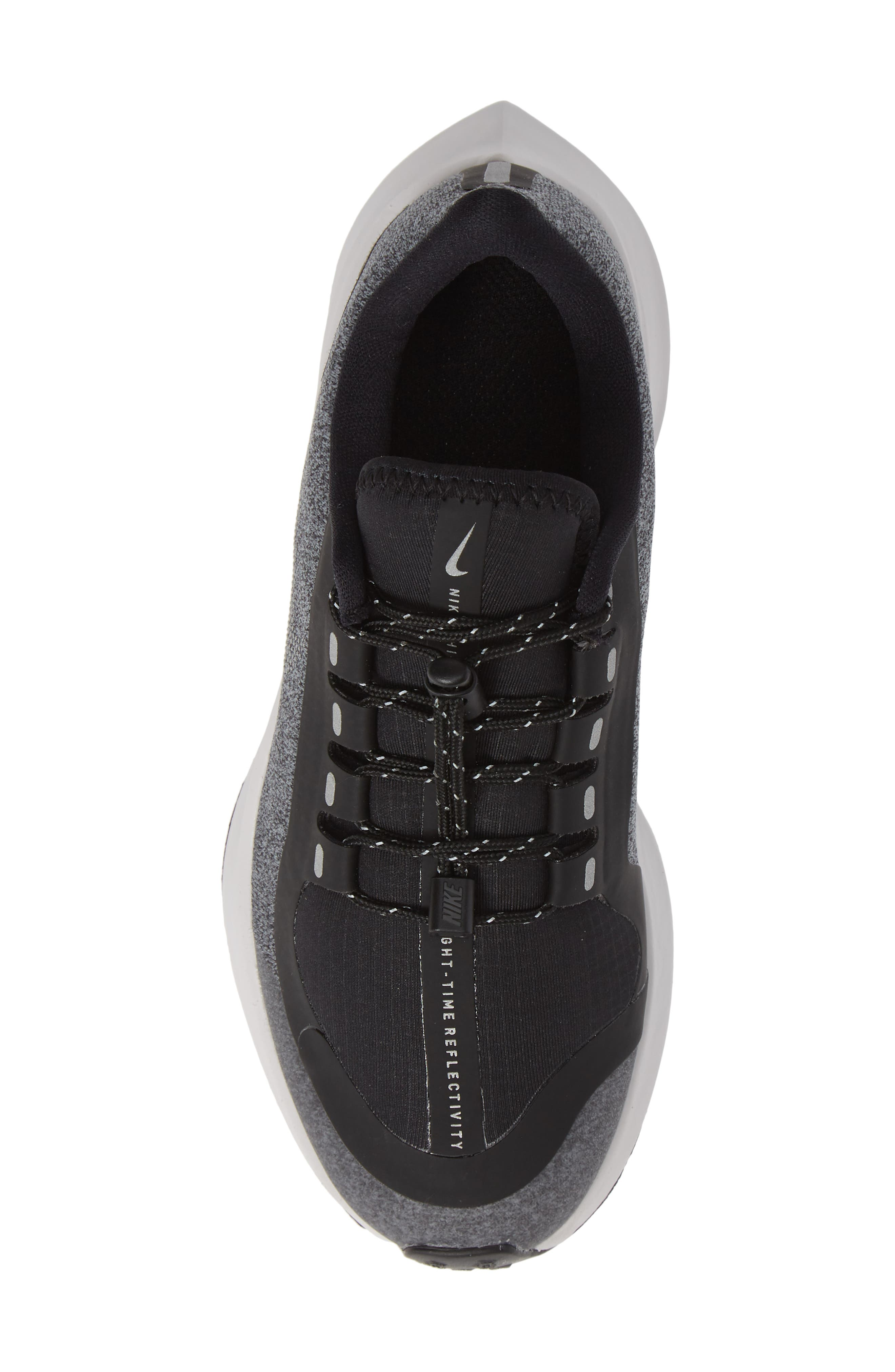 Air Zoom Pegasus 35 Shield GS Water Repellent Running Shoe,                             Alternate thumbnail 5, color,                             BLACK
