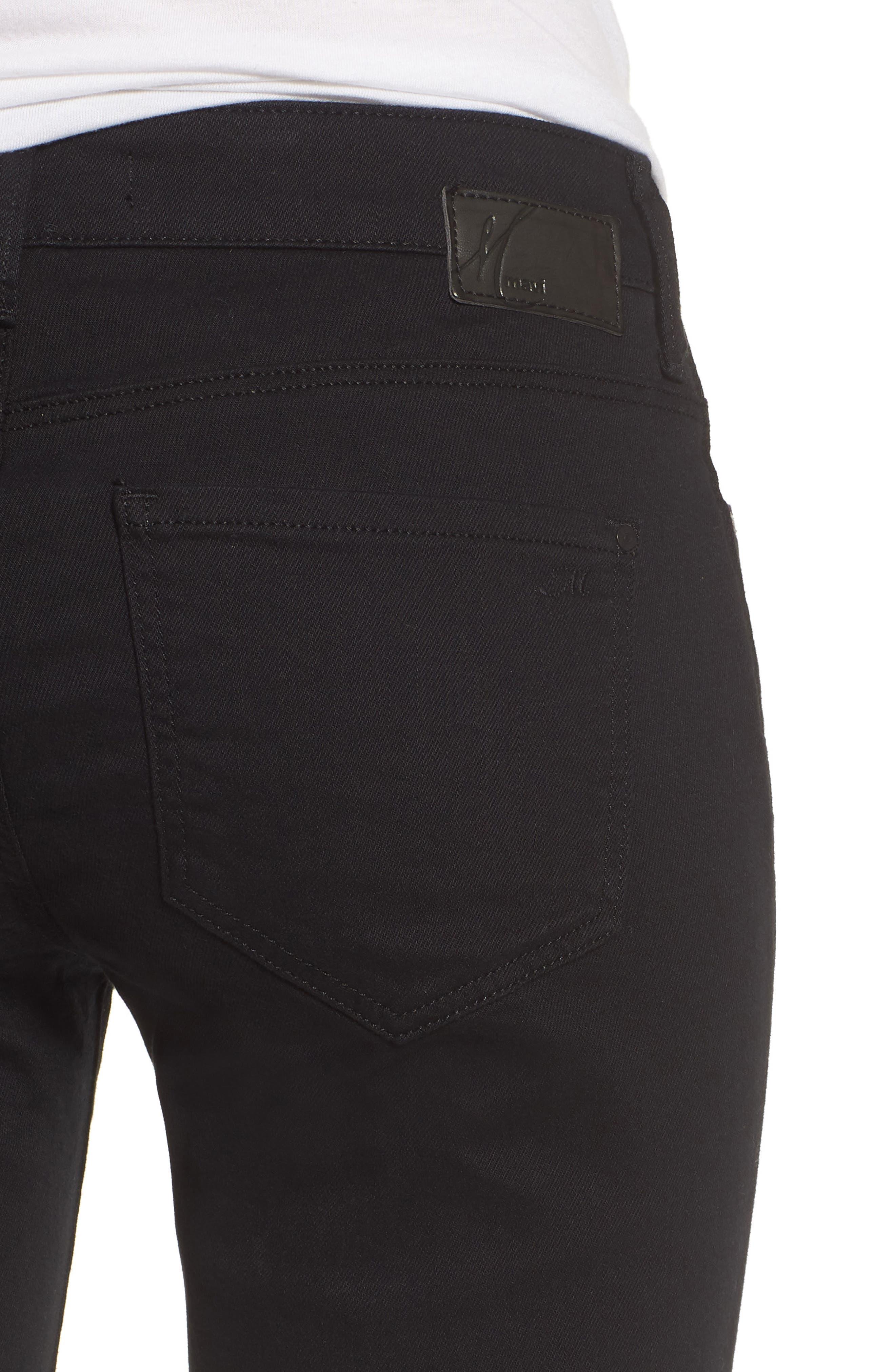 Karly Black Nolita Roll Cuff Bermuda Shorts,                             Alternate thumbnail 4, color,                             001