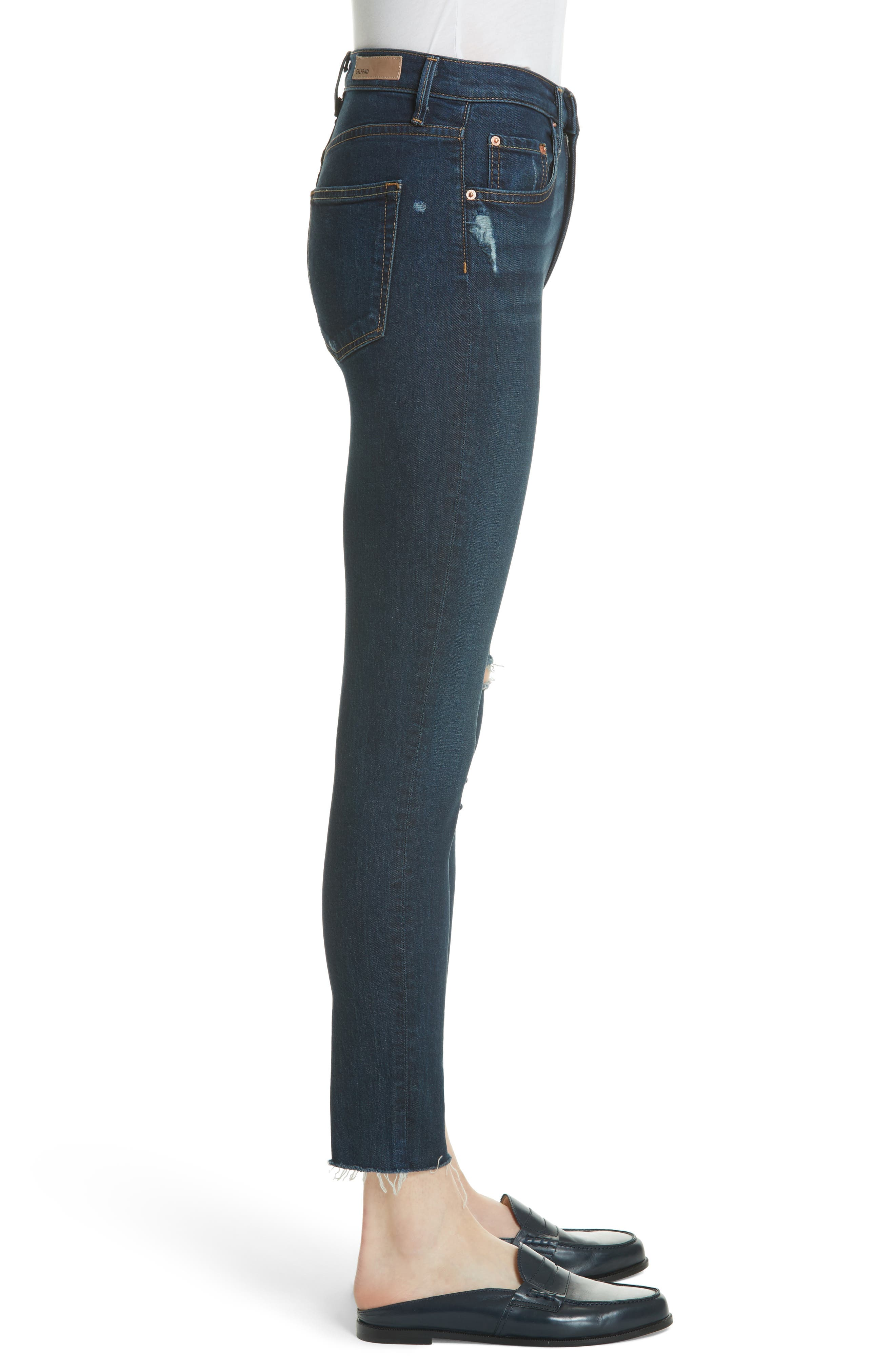 Kendall Super Stretch High Waist Skinny Jeans,                             Alternate thumbnail 3, color,                             478