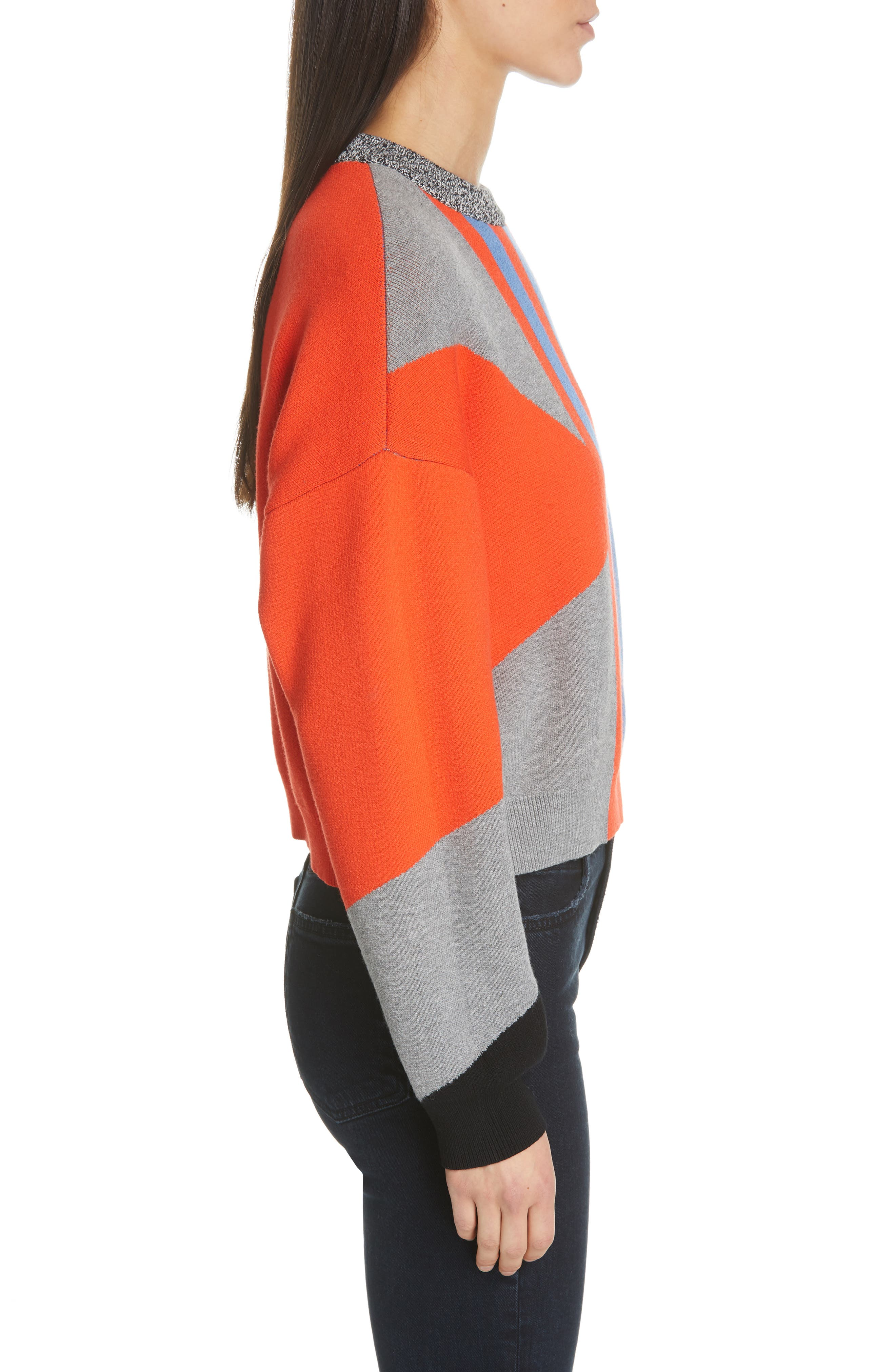PSWL Graphic Logo Sweater,                             Alternate thumbnail 3, color,                             BRIGHT RED COMBO
