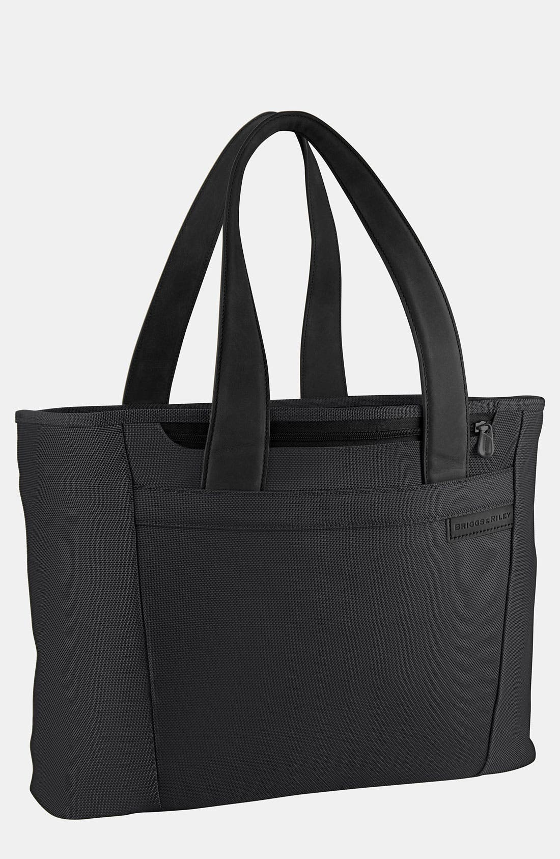 BRIGGS & RILEY 'Large Baseline' Shopping Tote, Main, color, BLACK
