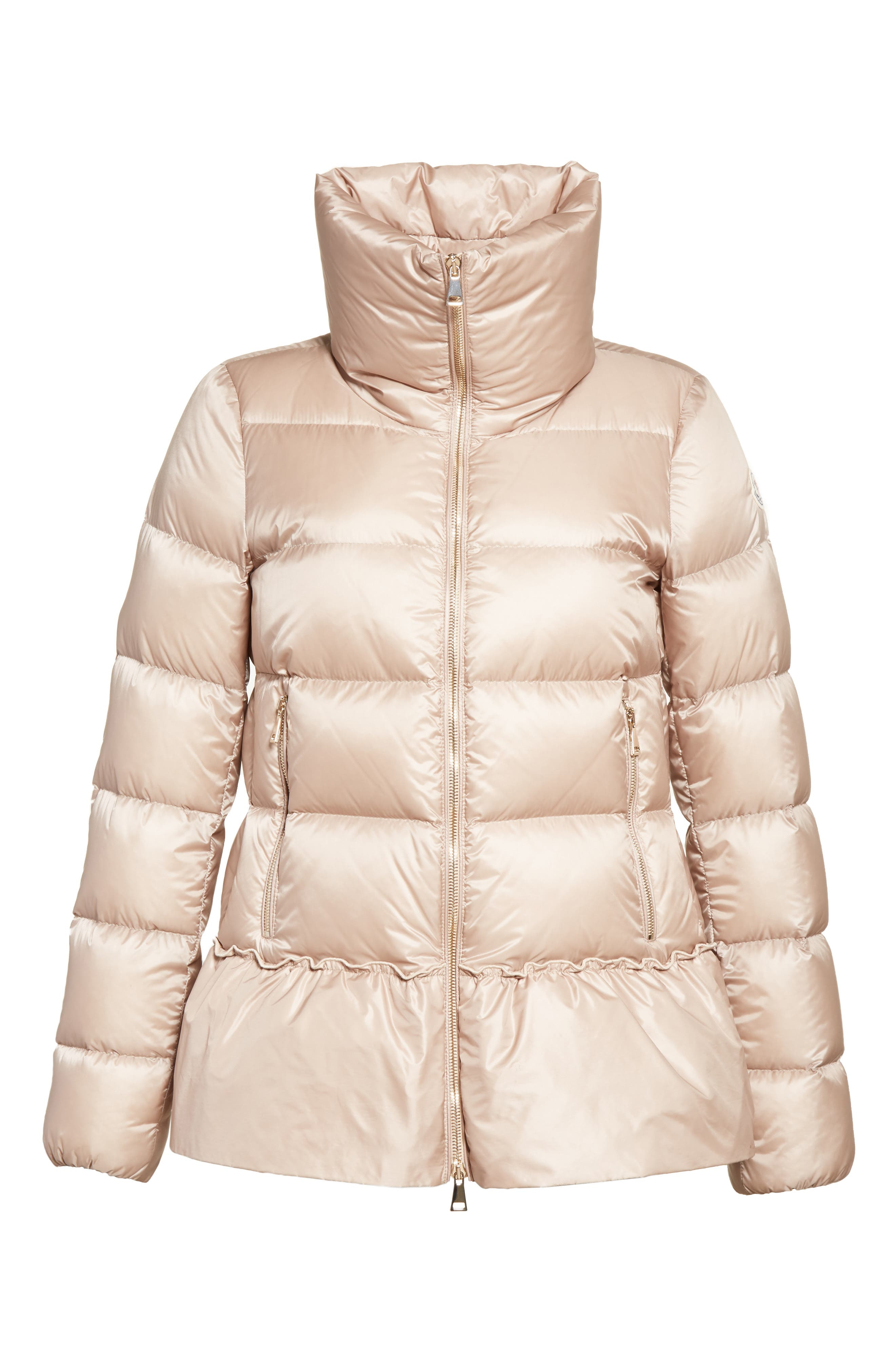 Anet Peplum Down Puffer Jacket,                             Alternate thumbnail 2, color,                             NATURAL