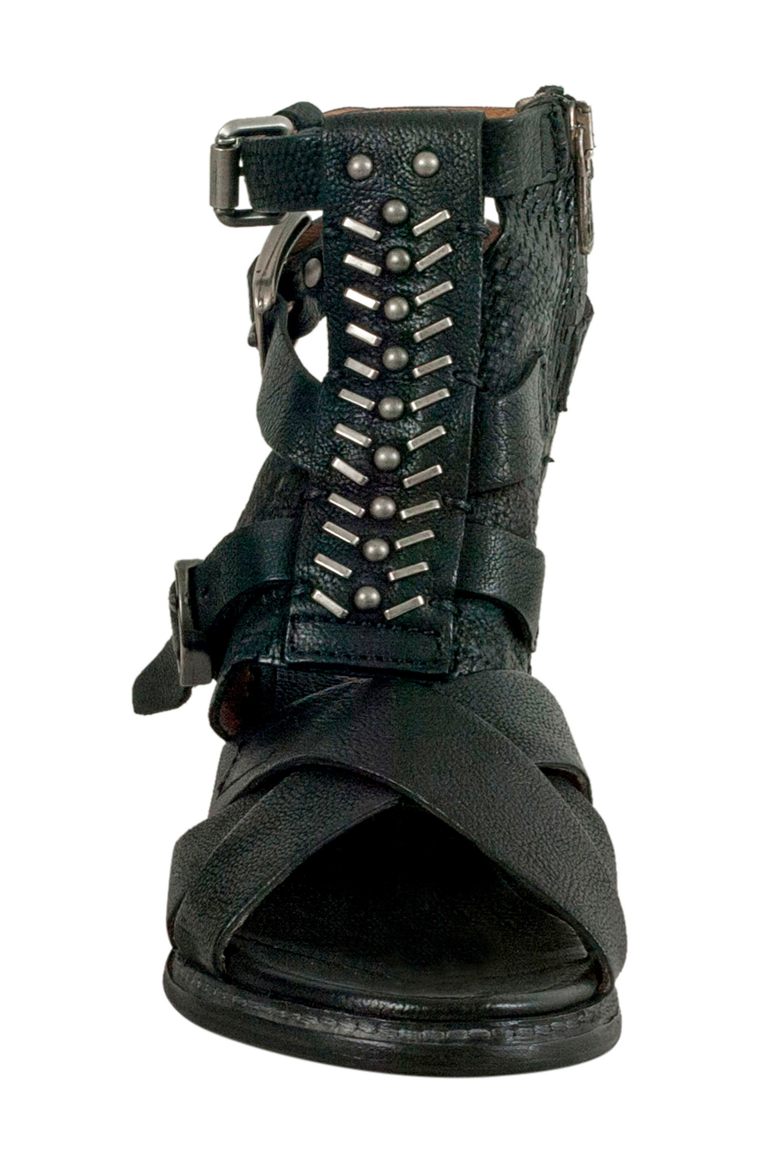 A.S.98,                             Pennie Gladiator Sandal,                             Alternate thumbnail 4, color,                             001