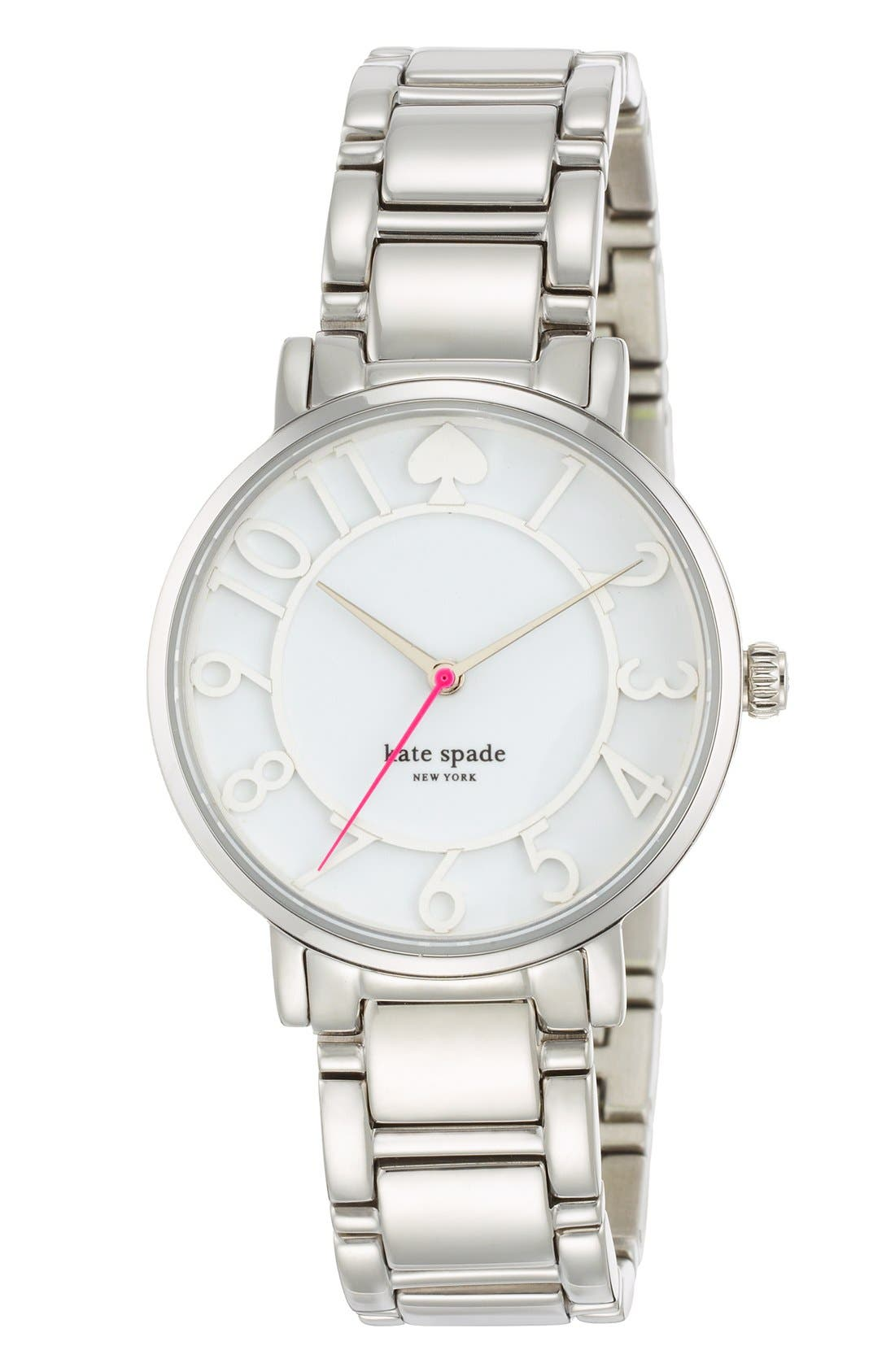 'gramercy' round bracelet watch, 34mm,                             Alternate thumbnail 3, color,                             040