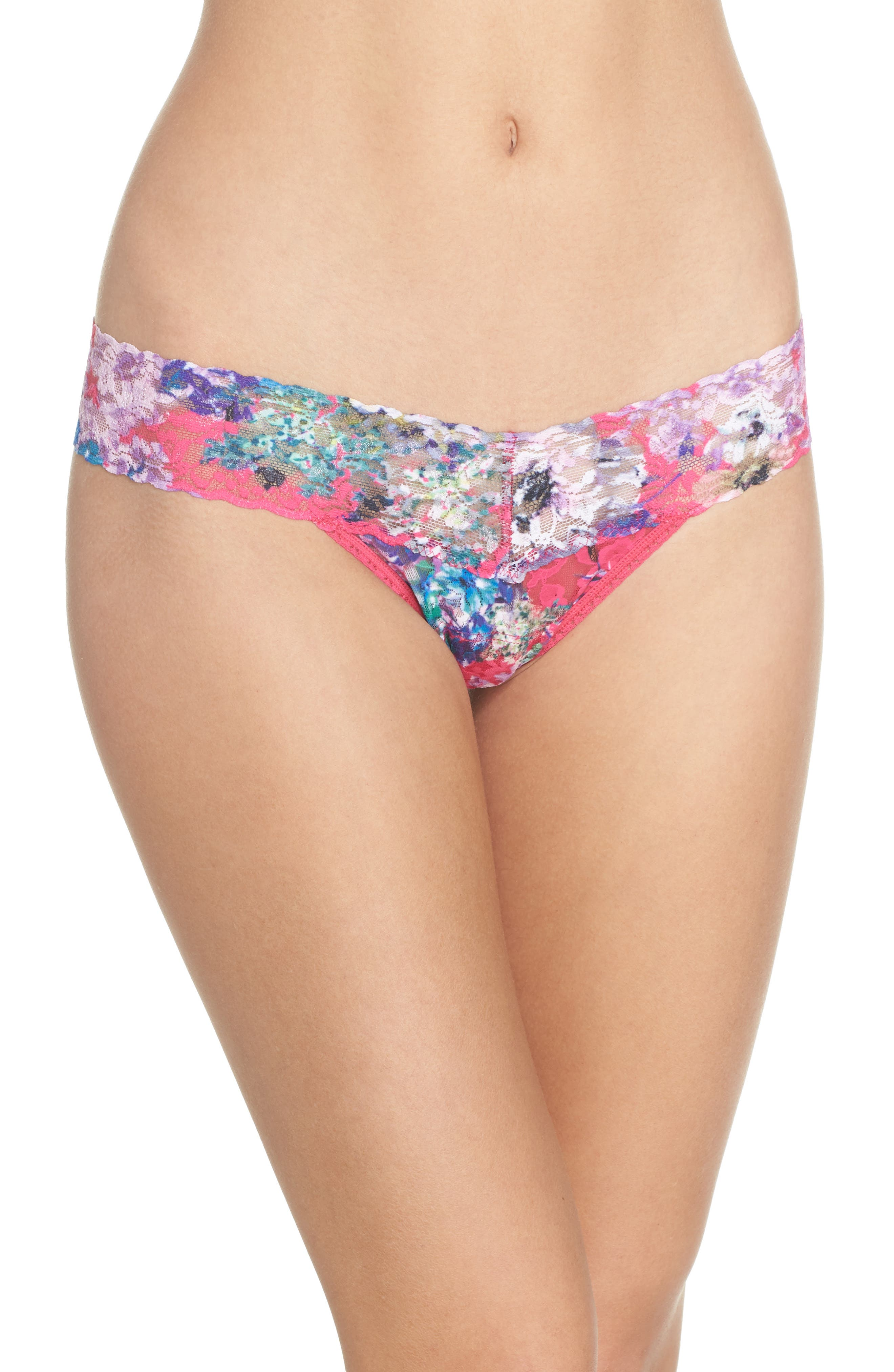 Print Low Rise Thong,                             Main thumbnail 14, color,