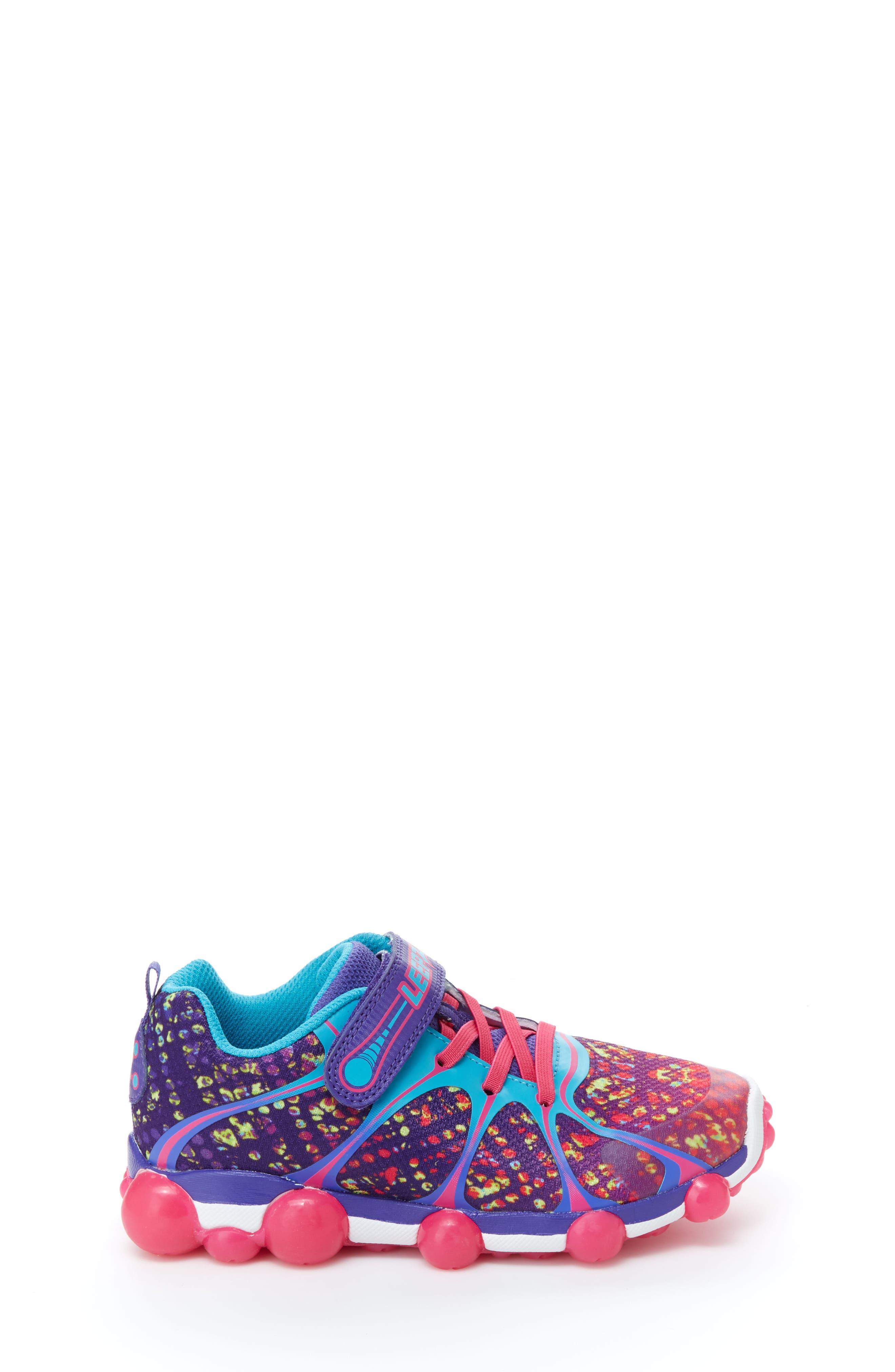'Leepz' Light-Up Sneaker,                             Alternate thumbnail 3, color,                             540