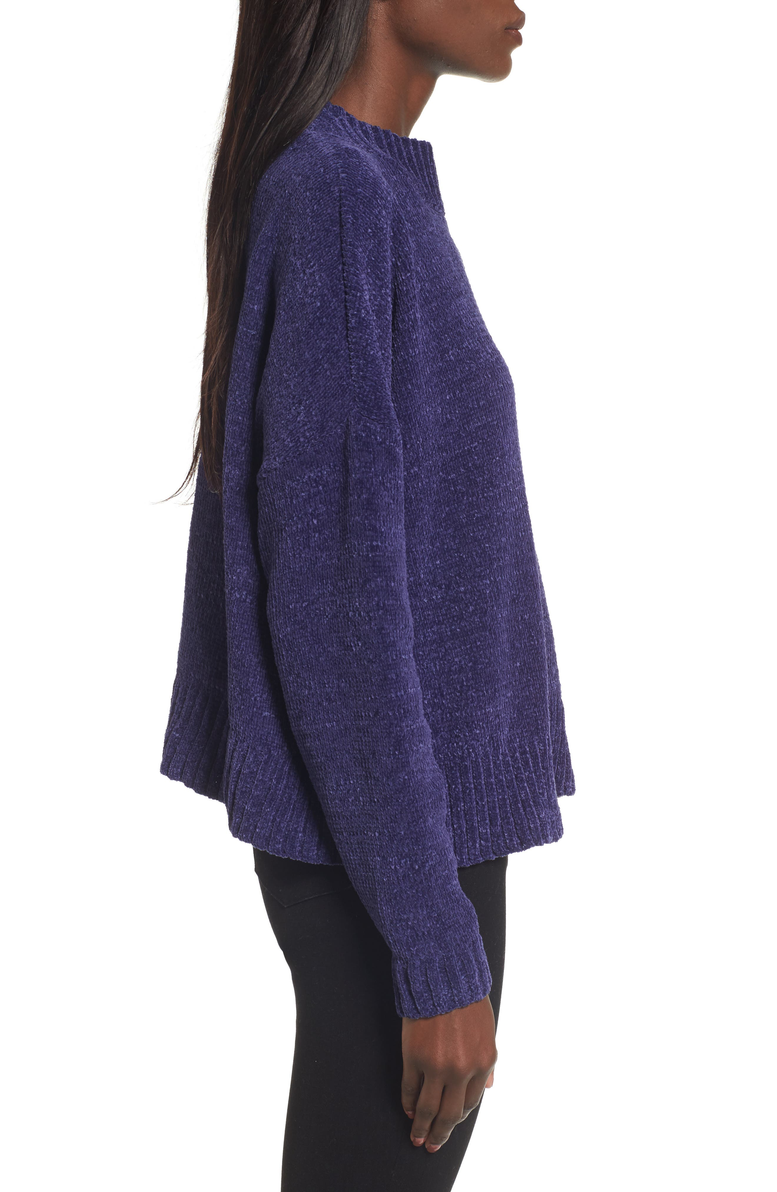 Chenille Funnel Neck Sweater,                             Alternate thumbnail 13, color,