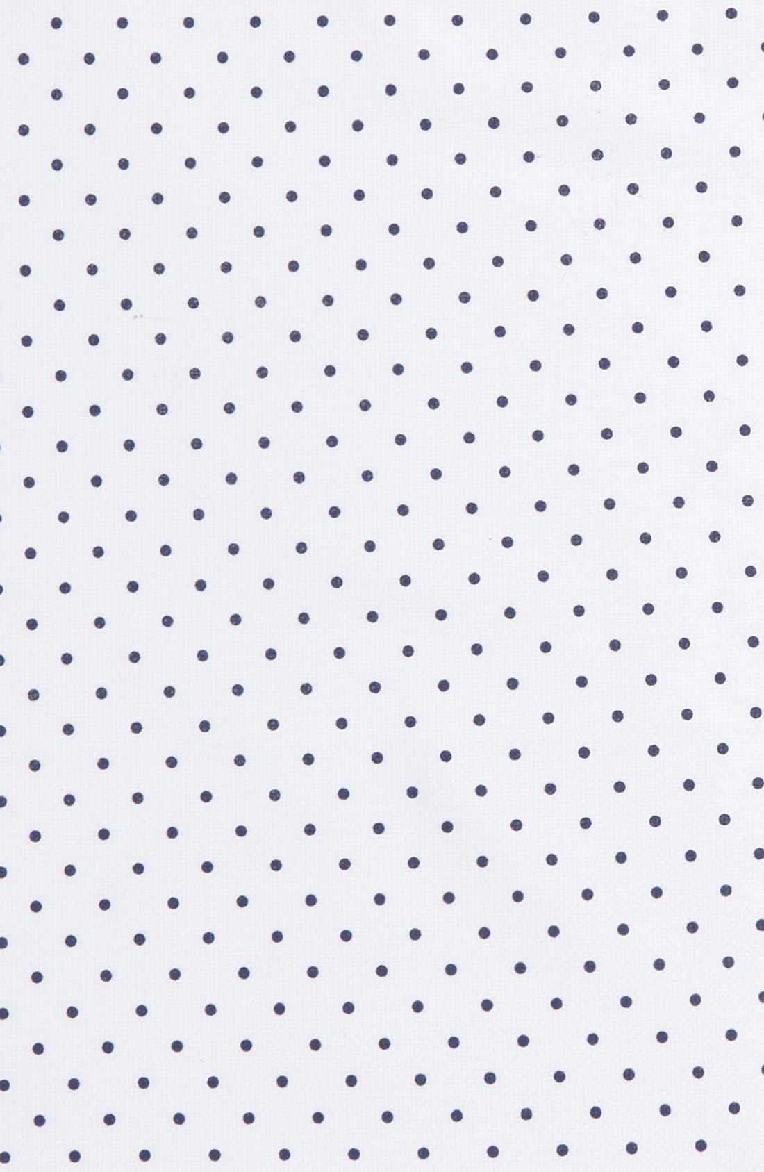 Polka Dot Cotton Pocket Square,                             Alternate thumbnail 3, color,                             100