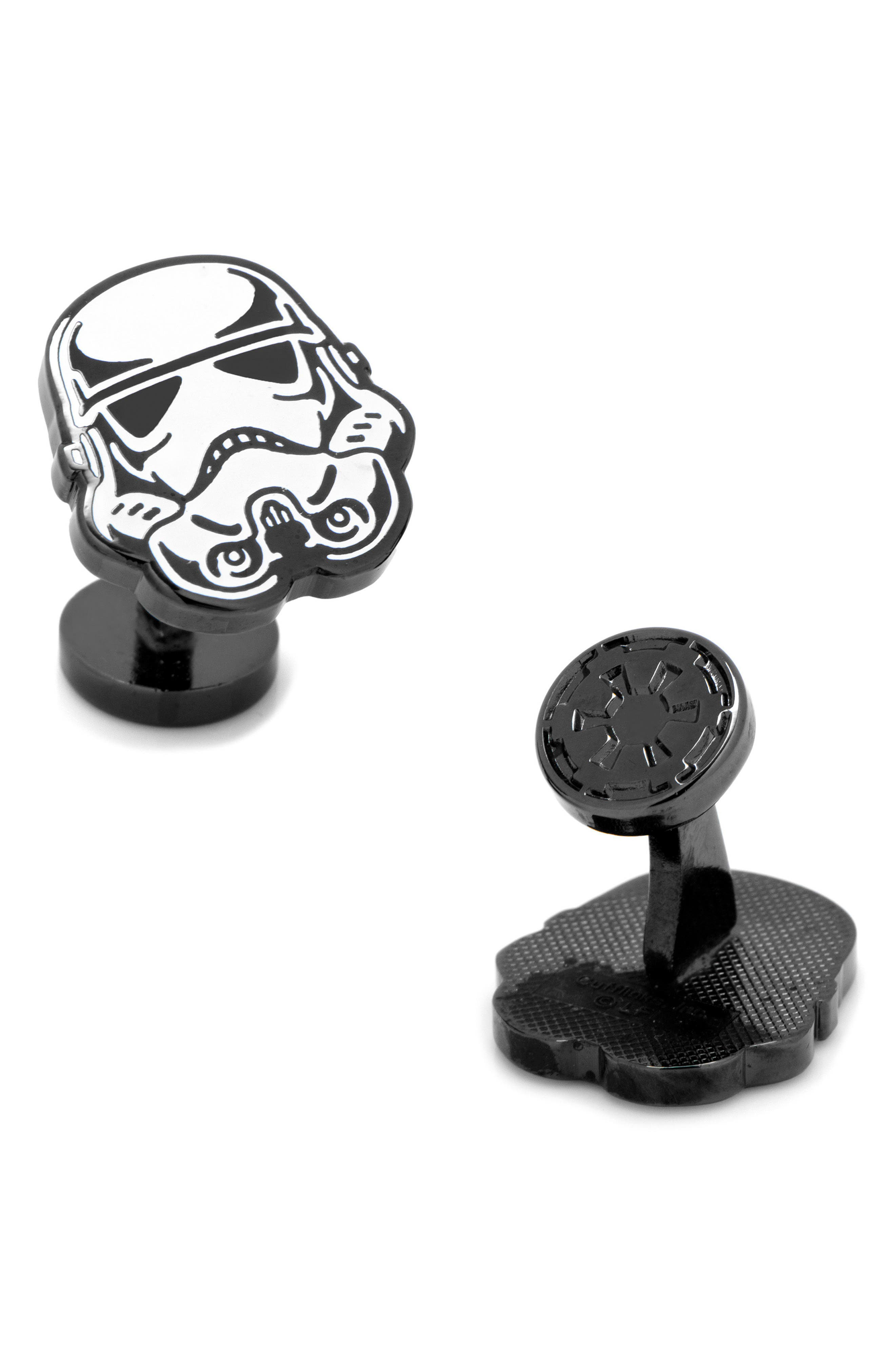 Star Wars Glow in the Dark Stormtrooper Cuff Links,                             Main thumbnail 1, color,                             MULTI