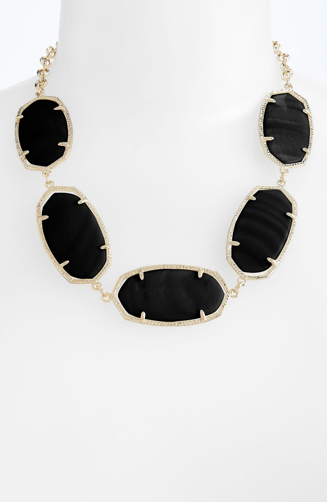 'Valencia' Stone Collar Statement Necklace,                             Main thumbnail 1, color,                             001