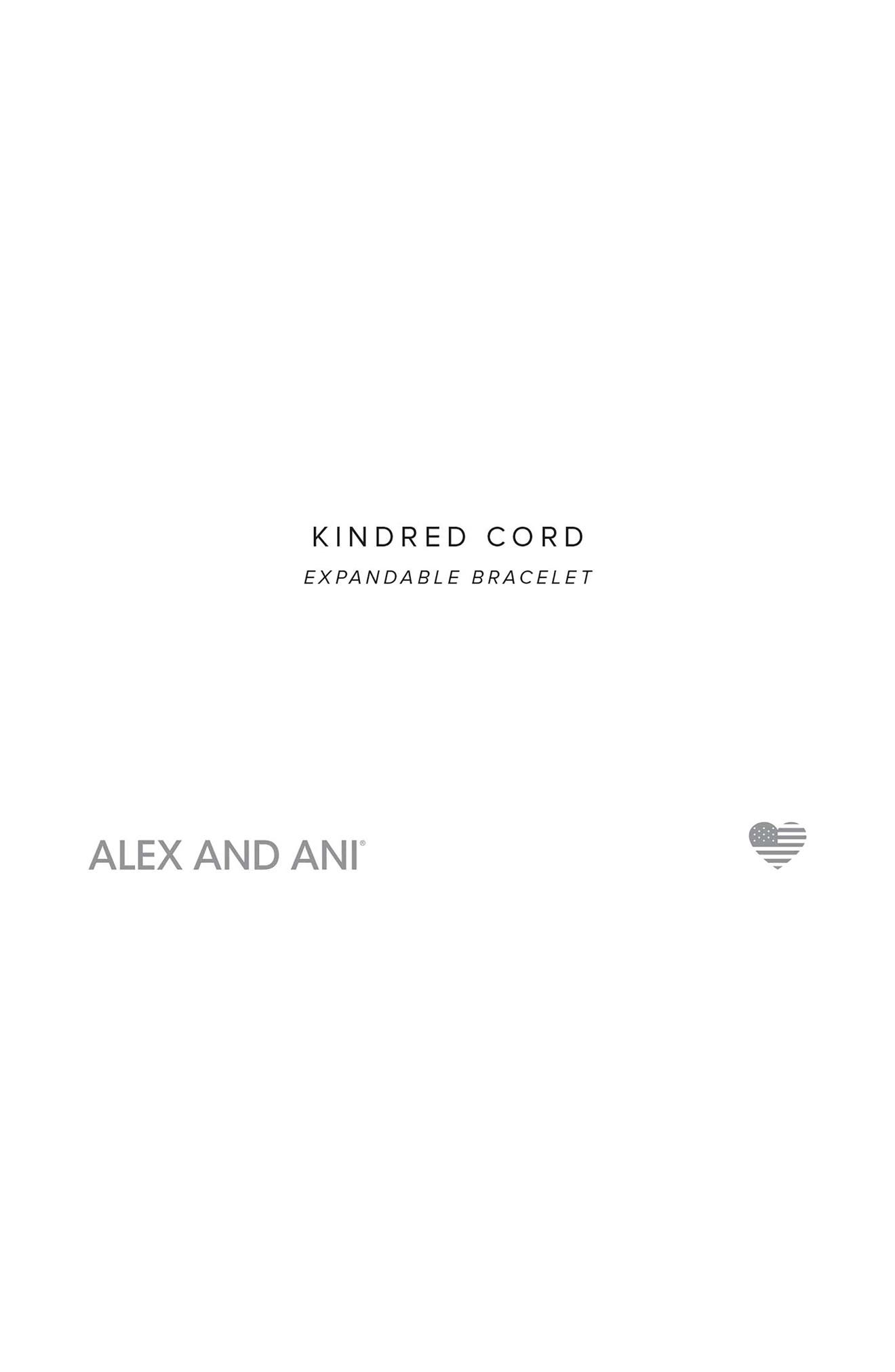 Kindred Cord Half Marathon 13.1 Bangle,                             Alternate thumbnail 3, color,                             SILVER