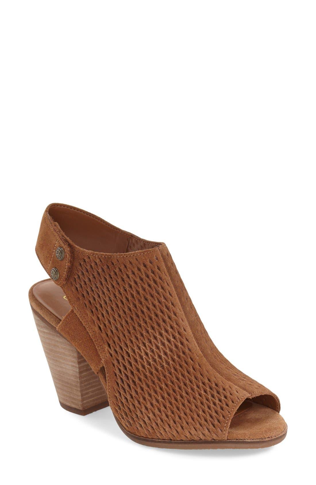 'Janel' Perforated Slingback Sandal,                         Main,                         color, 201