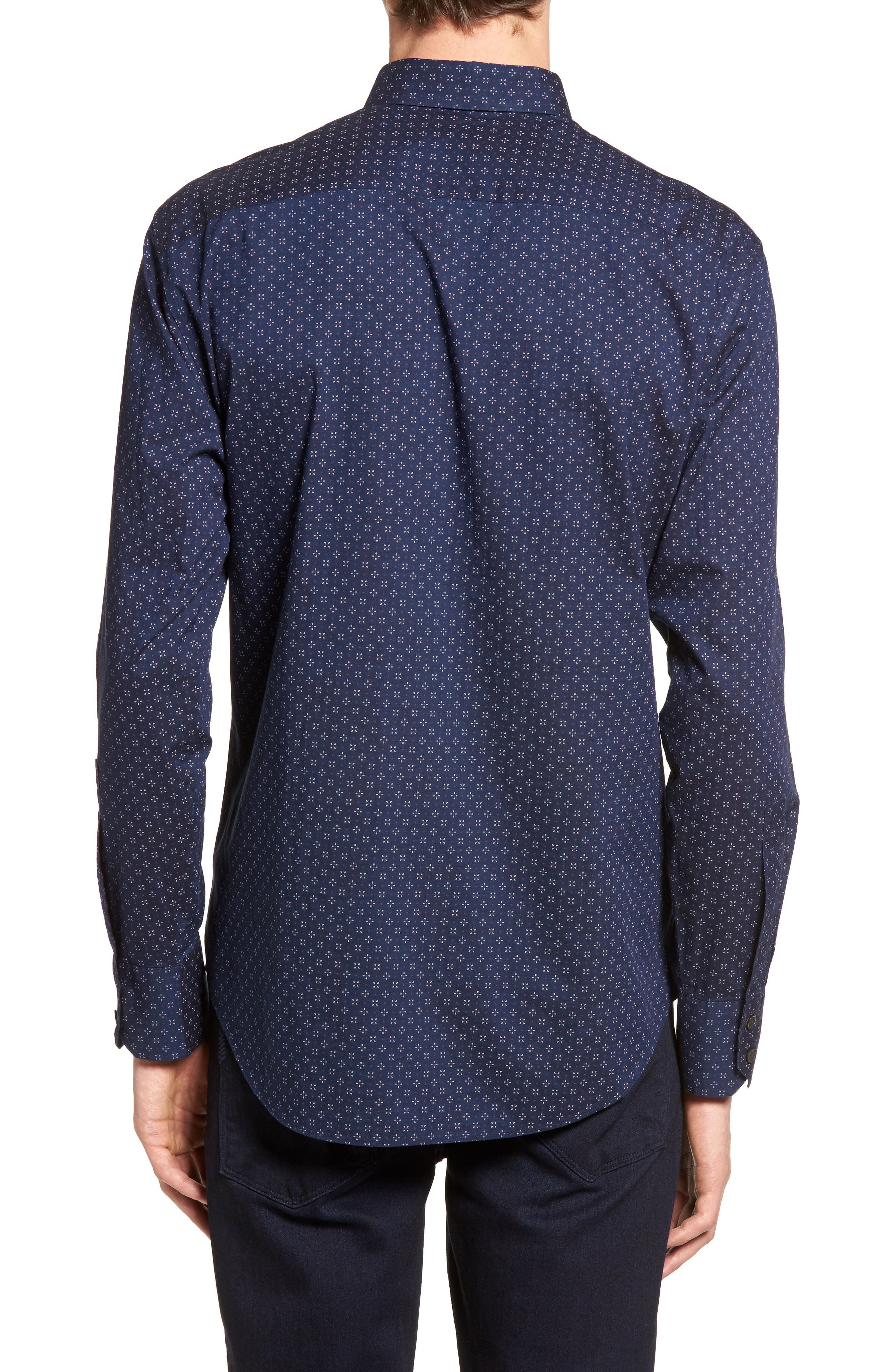Kinnear Slim Fit Print Shirt,                             Alternate thumbnail 2, color,