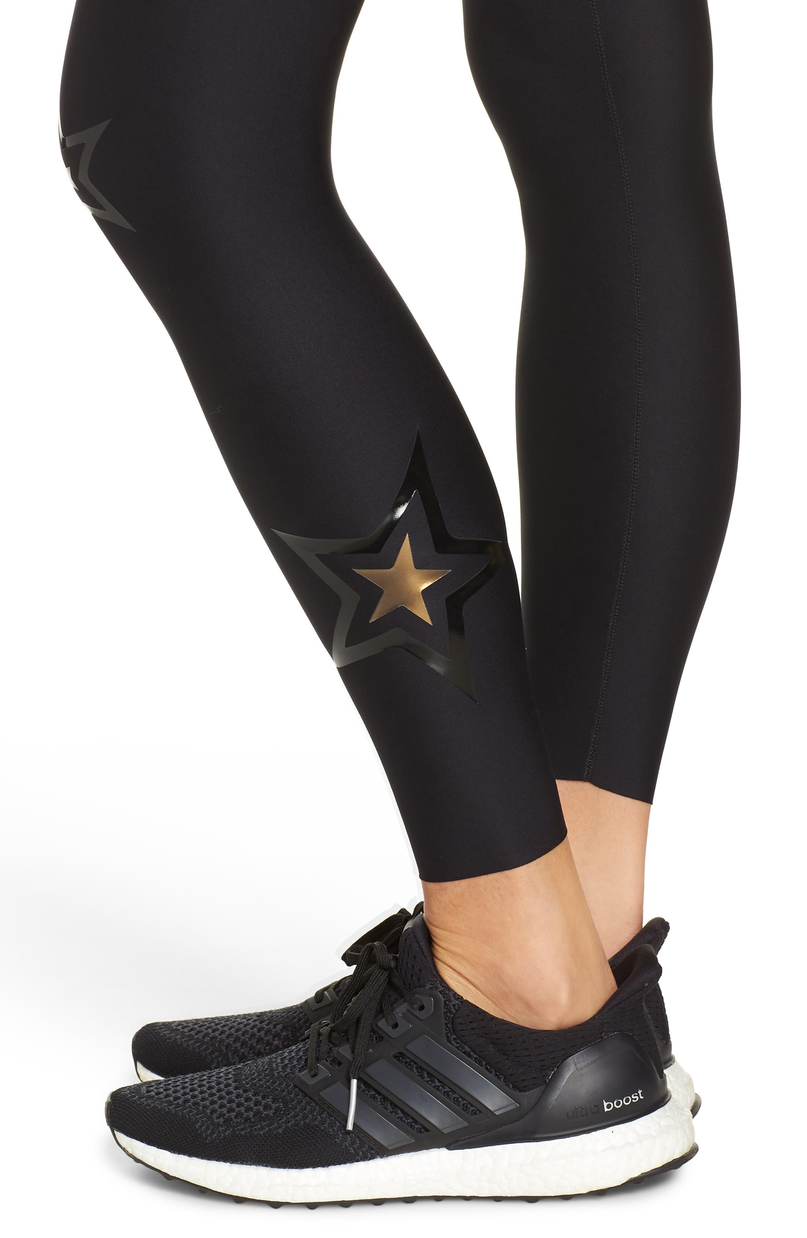 Ultra High Duochrome Pop Star Leggings,                             Alternate thumbnail 4, color,                             NERO PATENT NERO