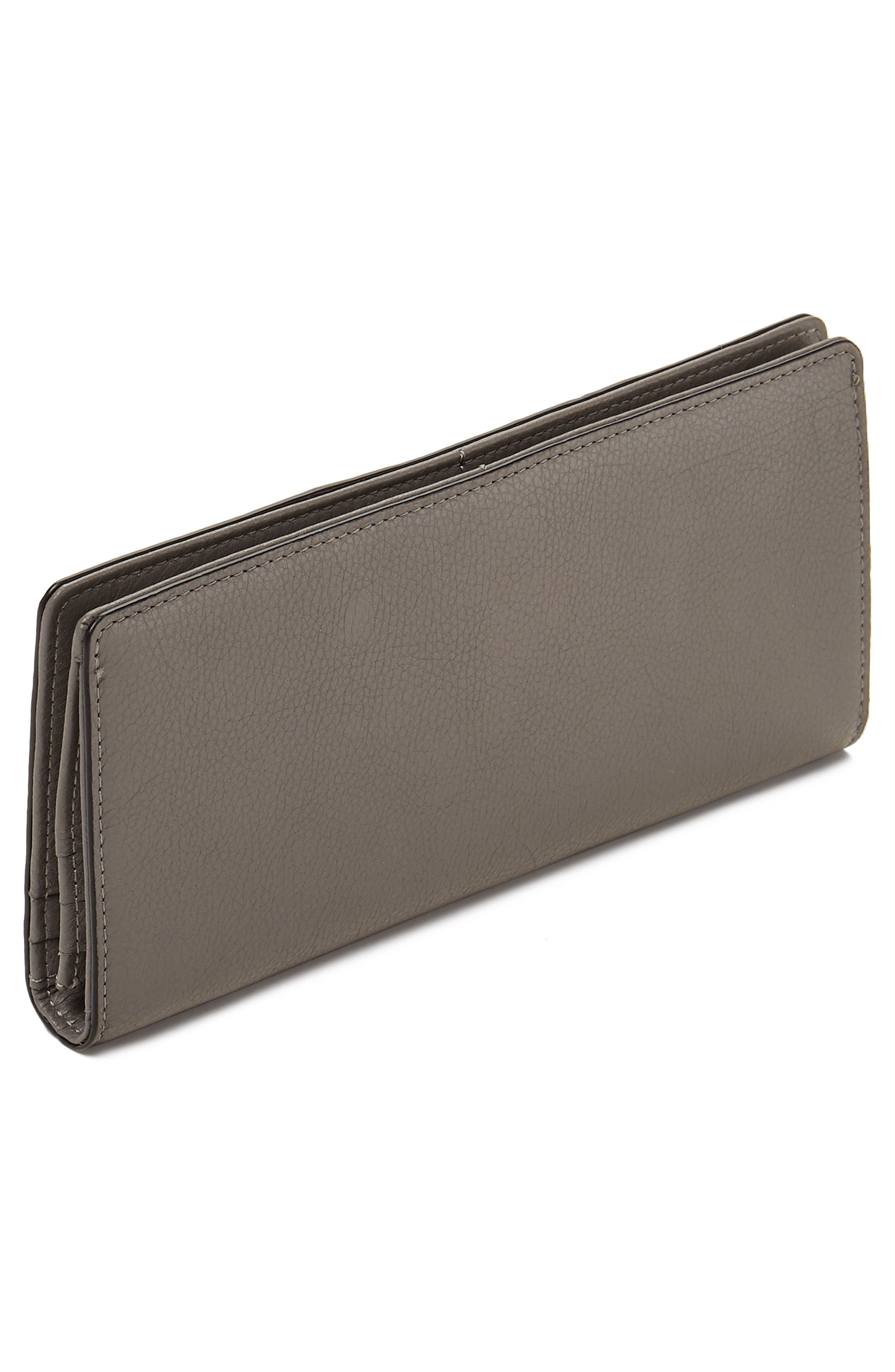Moto Leather Continental Wallet,                             Alternate thumbnail 2, color,                             WINTER GREY