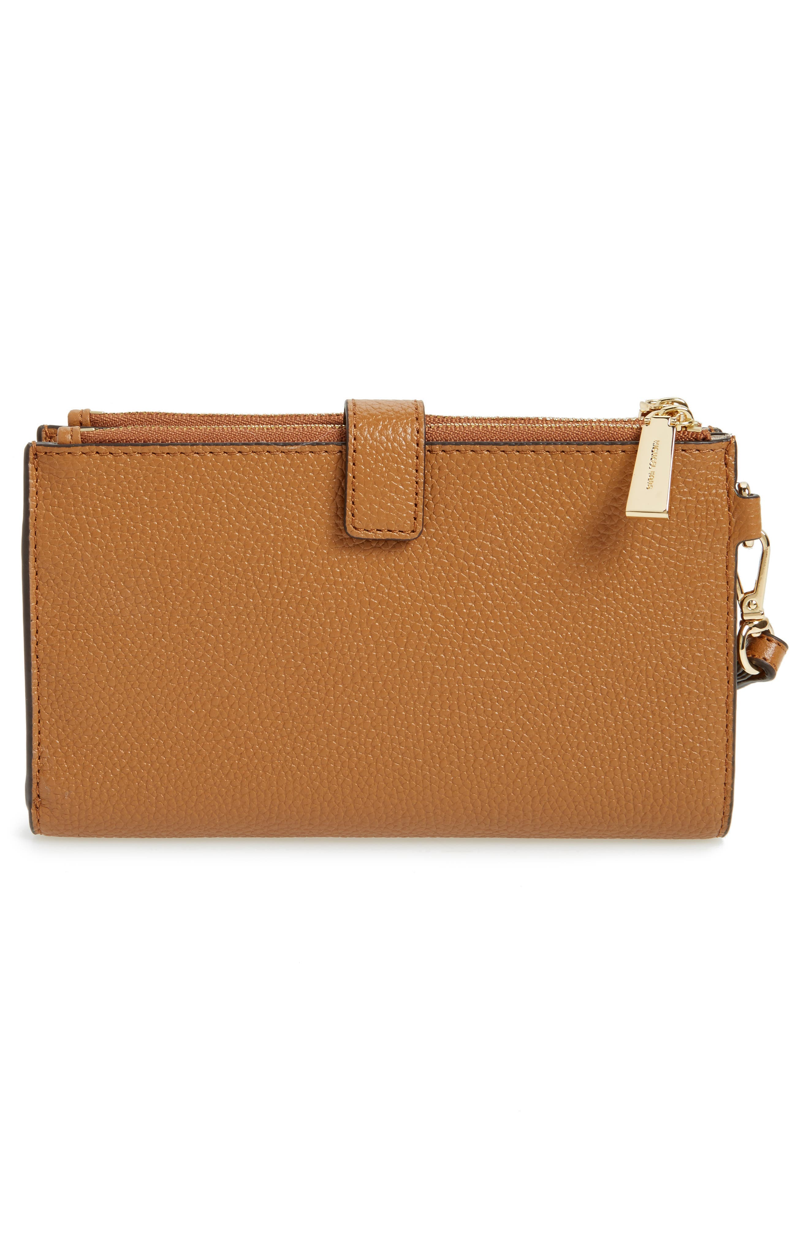 Adele Leather Wristlet,                             Alternate thumbnail 21, color,