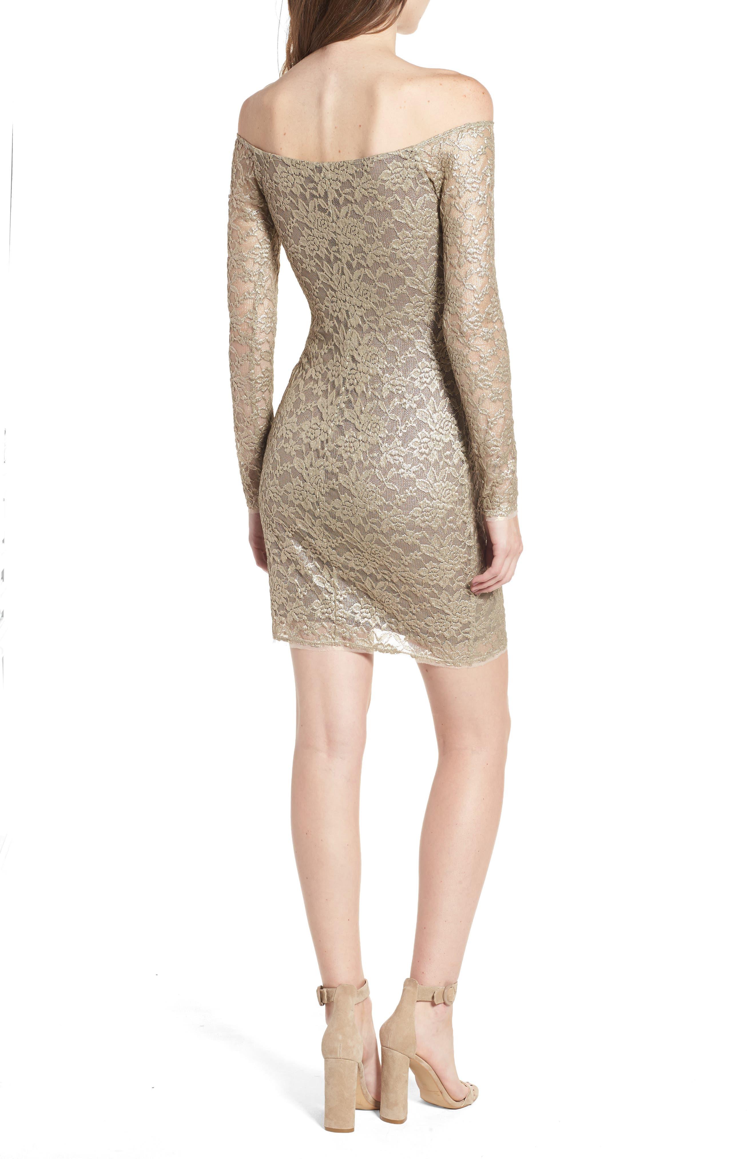 Double Exposure Lace Sheath Dress,                             Alternate thumbnail 2, color,                             710