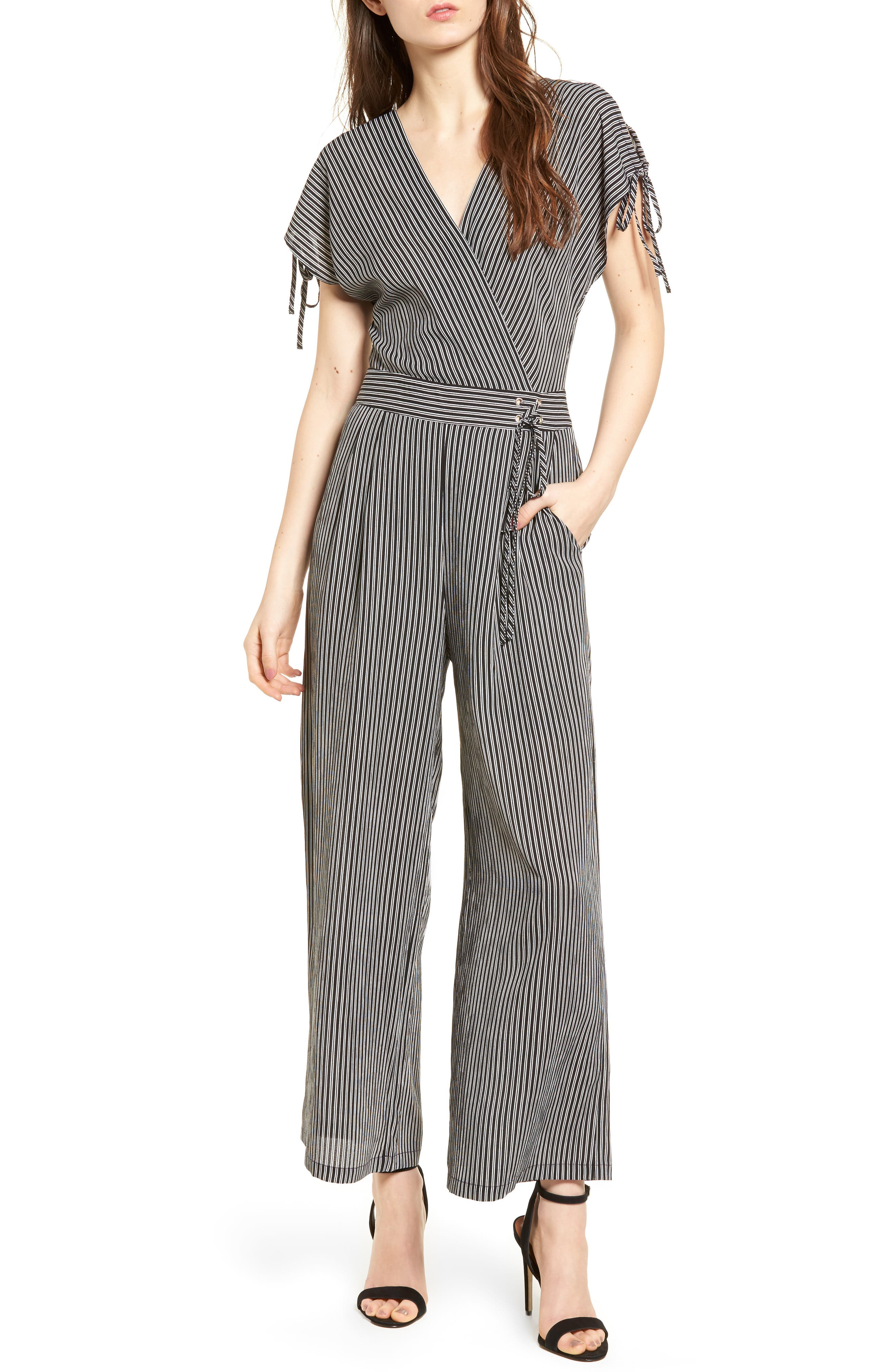J.O.A. Stripe Jumpsuit, Main, color, 001