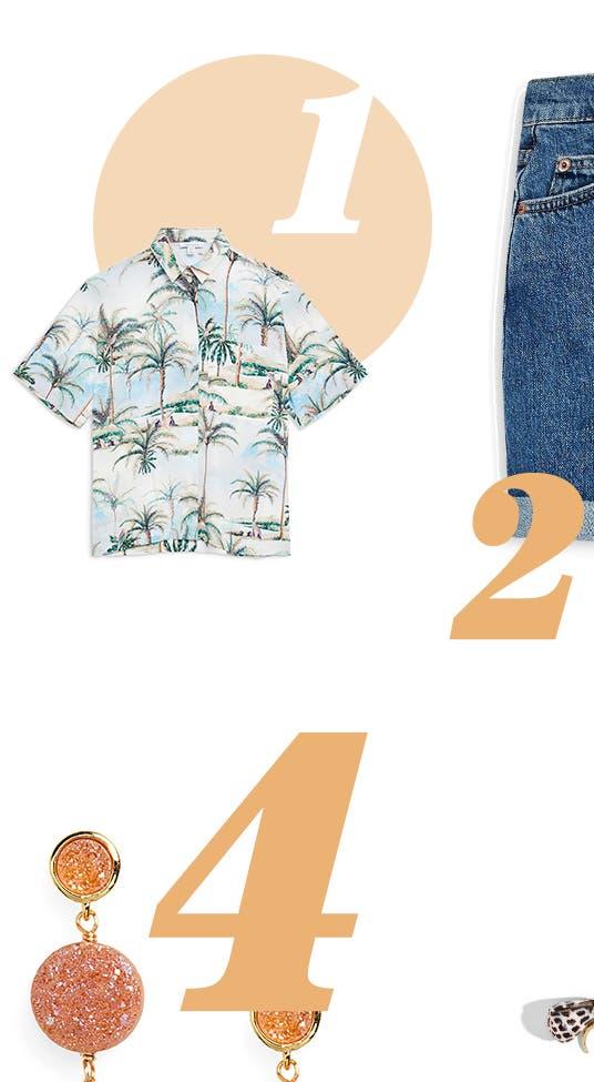 Topshop Hawaiian-Print Shirt