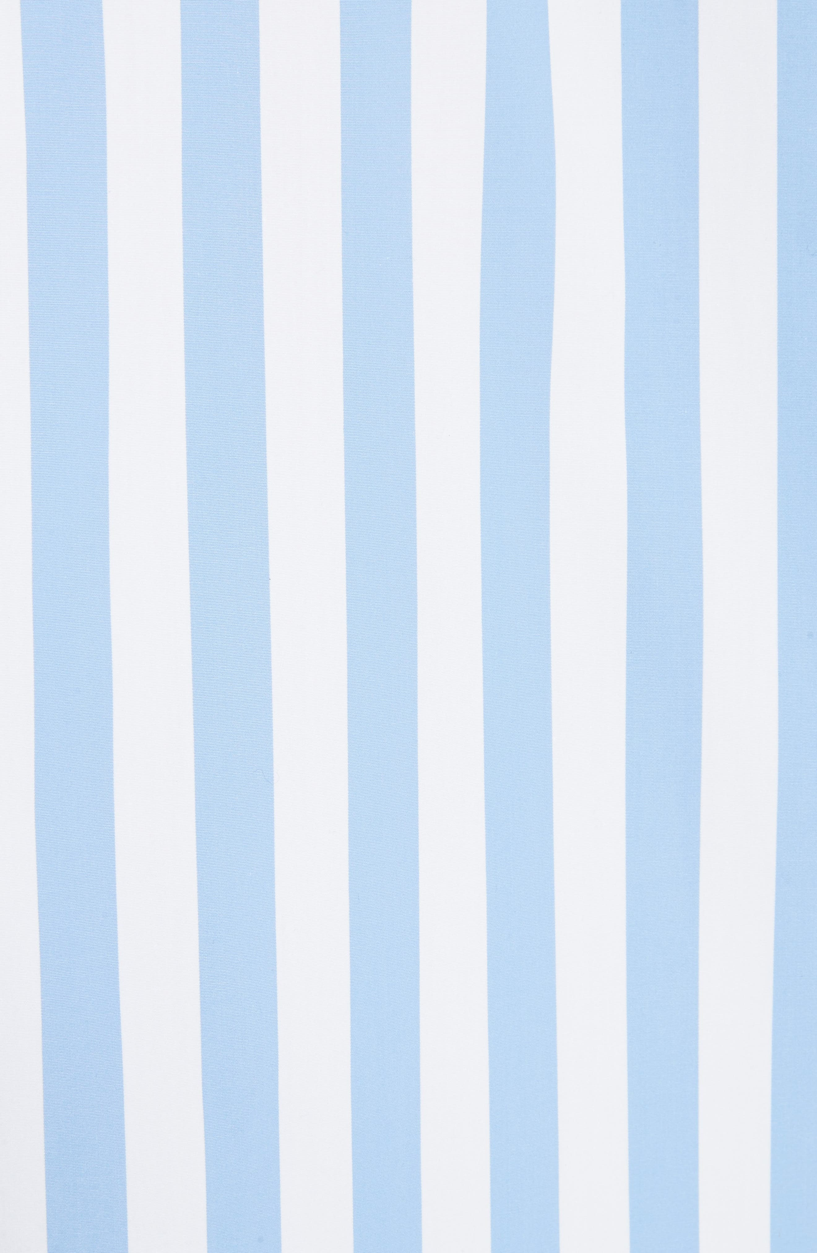The Shirt Dress,                             Alternate thumbnail 5, color,                             WHITE/ SKY BOLD