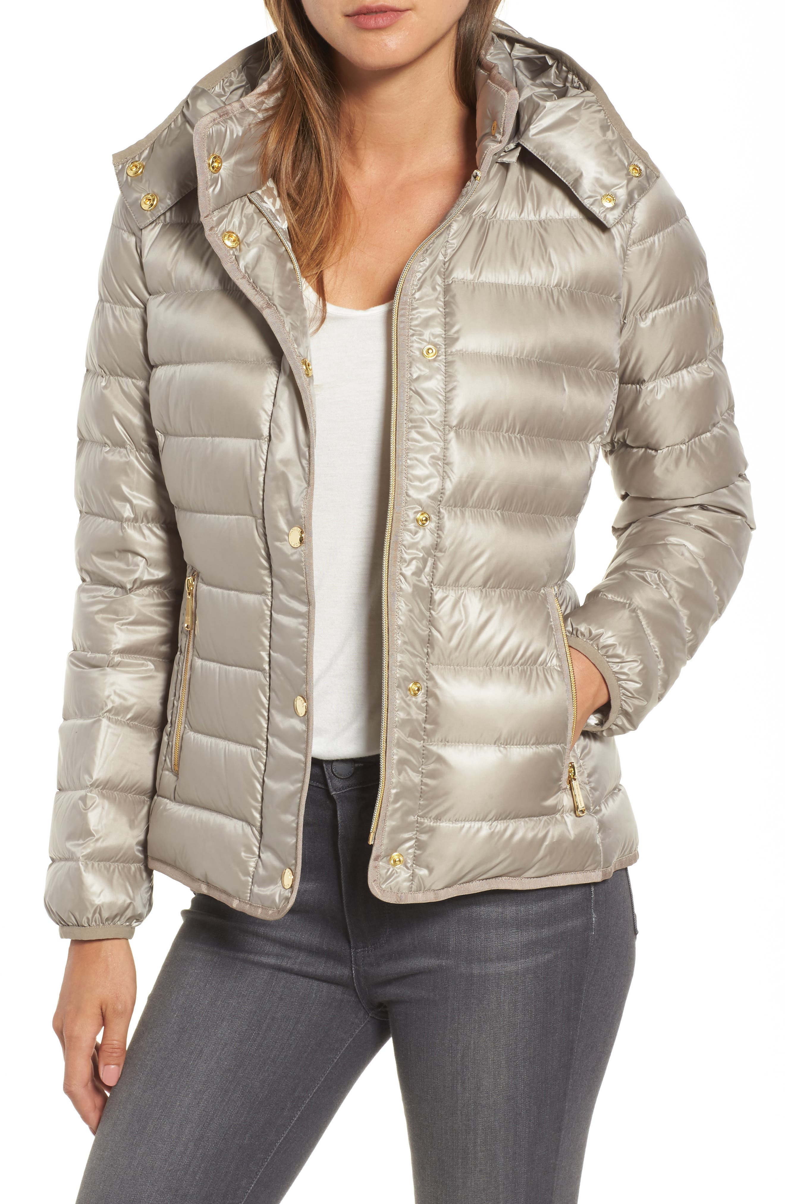 Packable Insulated Jacket with Removable Hood,                             Main thumbnail 2, color,
