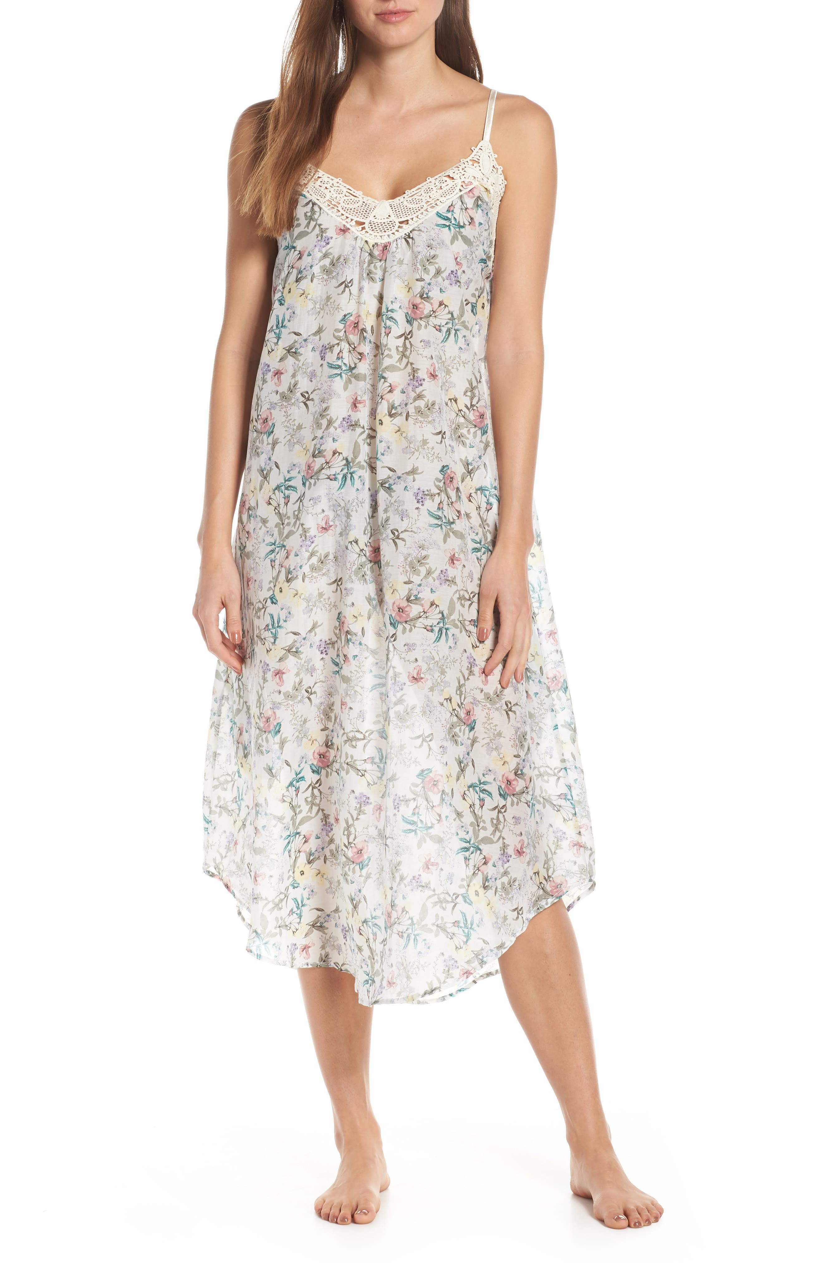 Papinelle Emmy Cotton & Silk Nightgown, Blue