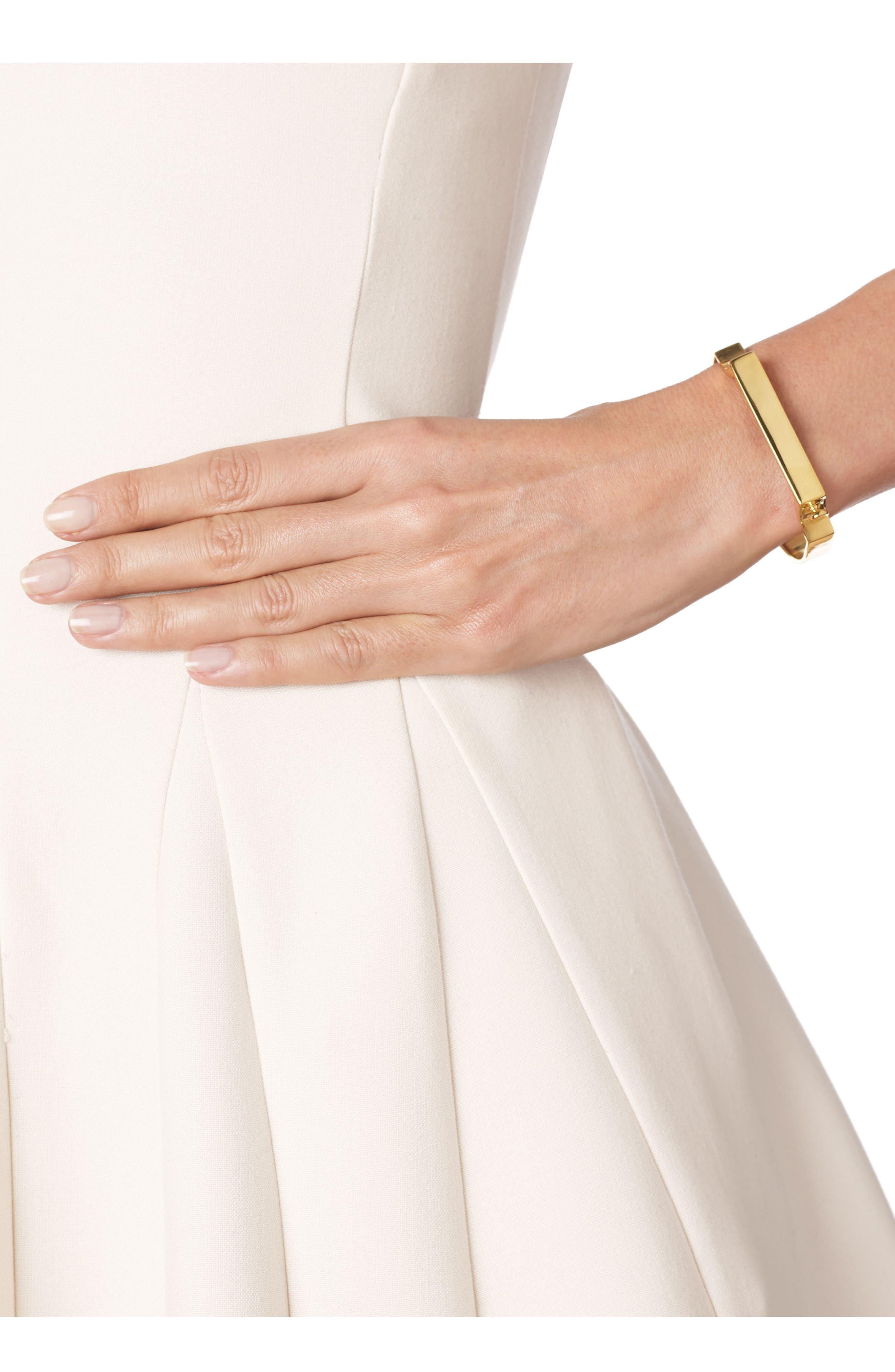 Engravable Large Signature Bracelet,                             Alternate thumbnail 4, color,                             YELLOW GOLD