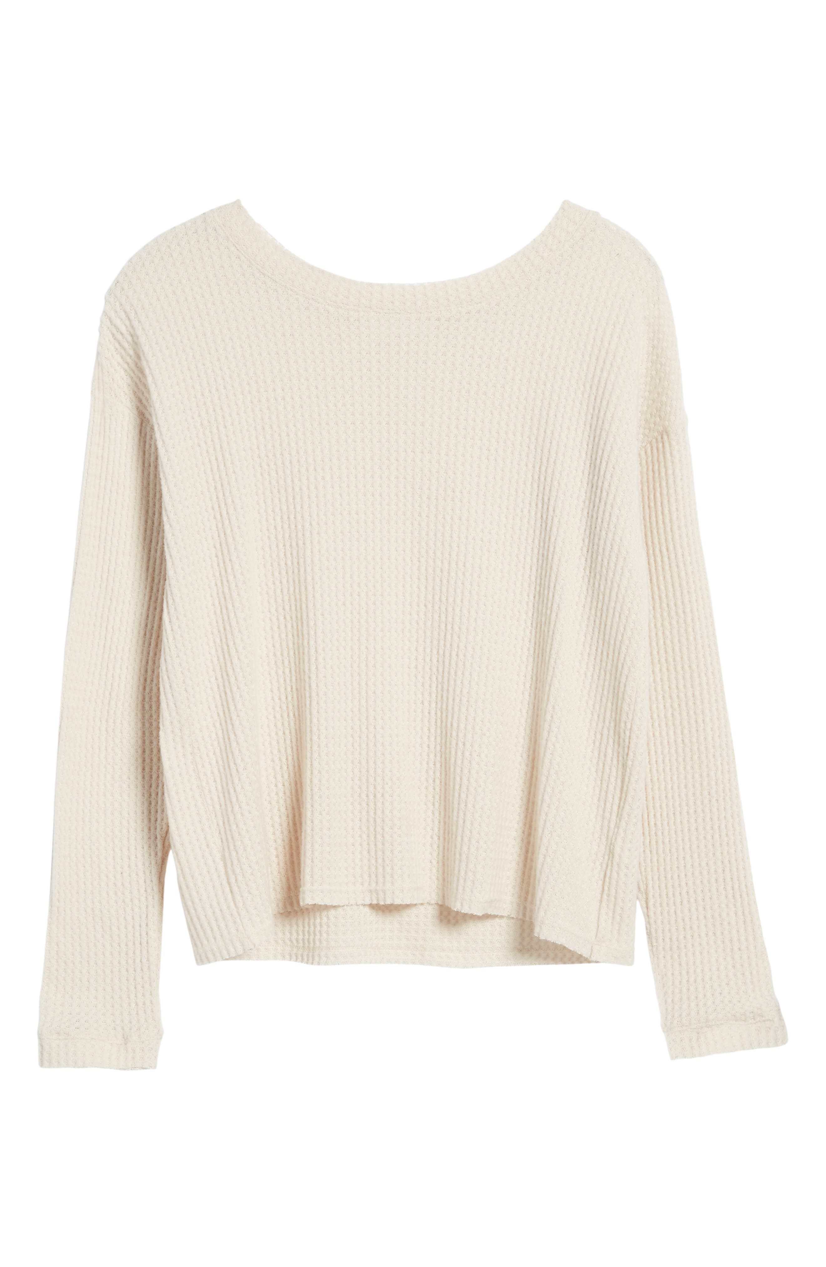Waffle Knit Top,                             Alternate thumbnail 23, color,