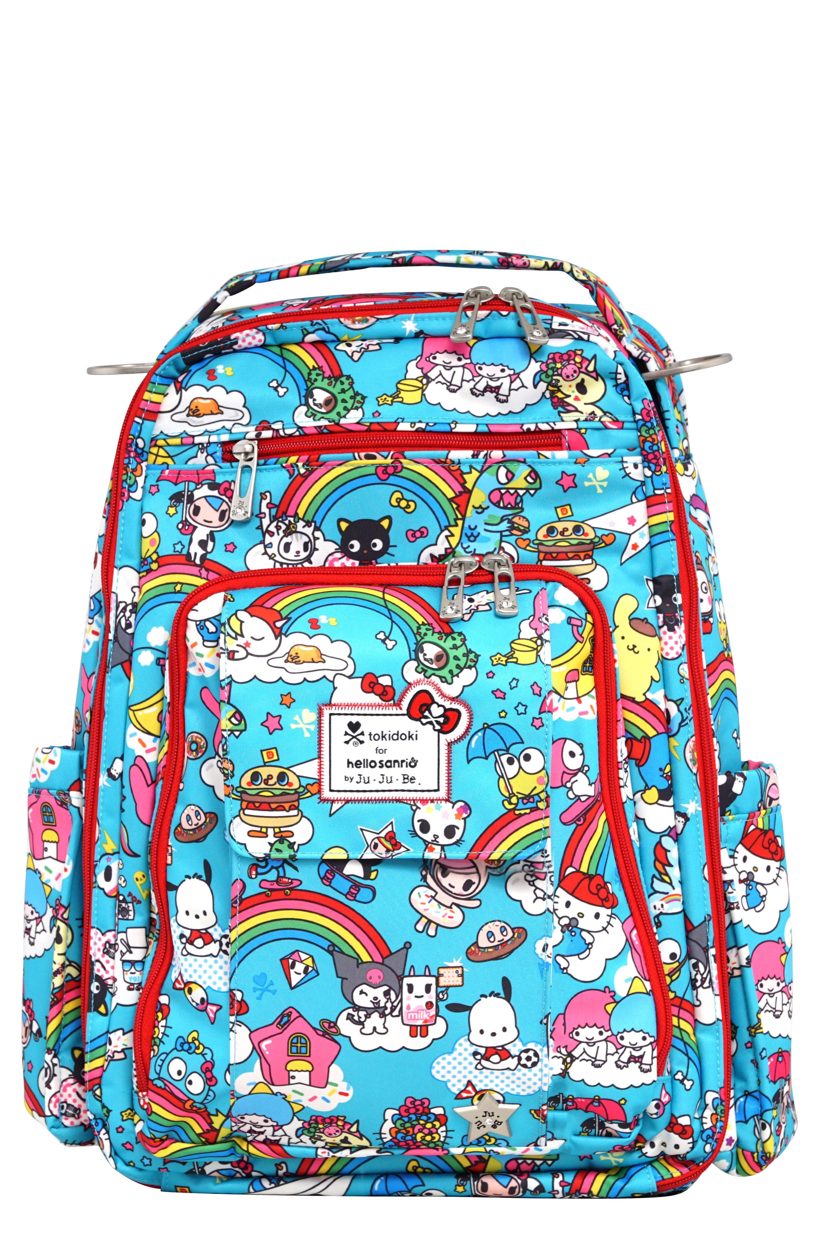 x tokidoki for Hello Sanrio Rainbow Dreams Be Right Back Diaper Backpack,                         Main,                         color, 433